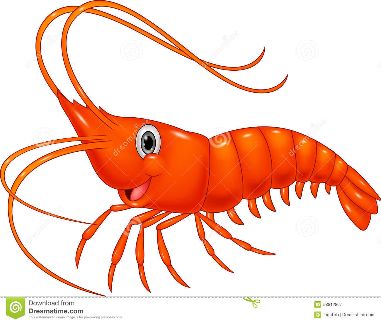 ... Shrimp Stock Vector - Image: 58812807 Cute Baby Sea Animals Clipart