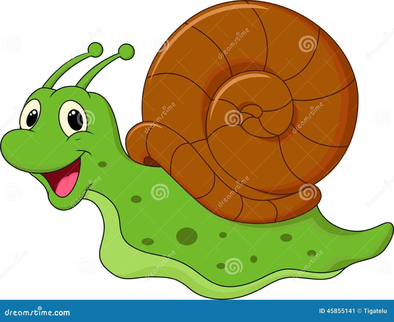 Cute cartoon snail stock vector. Illustration of creep ...