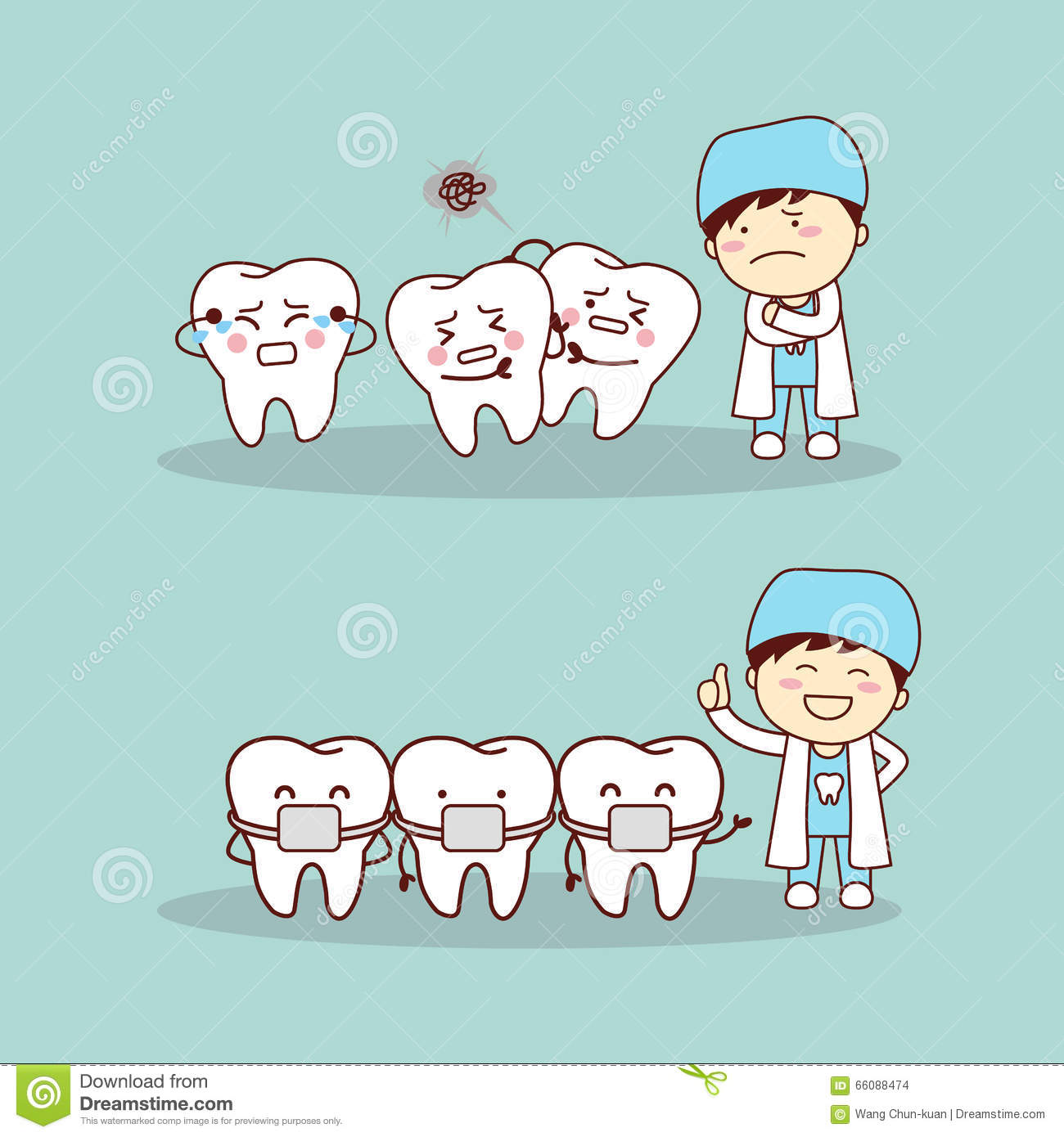 ... braces with dentist doctor, great for health dental care concept