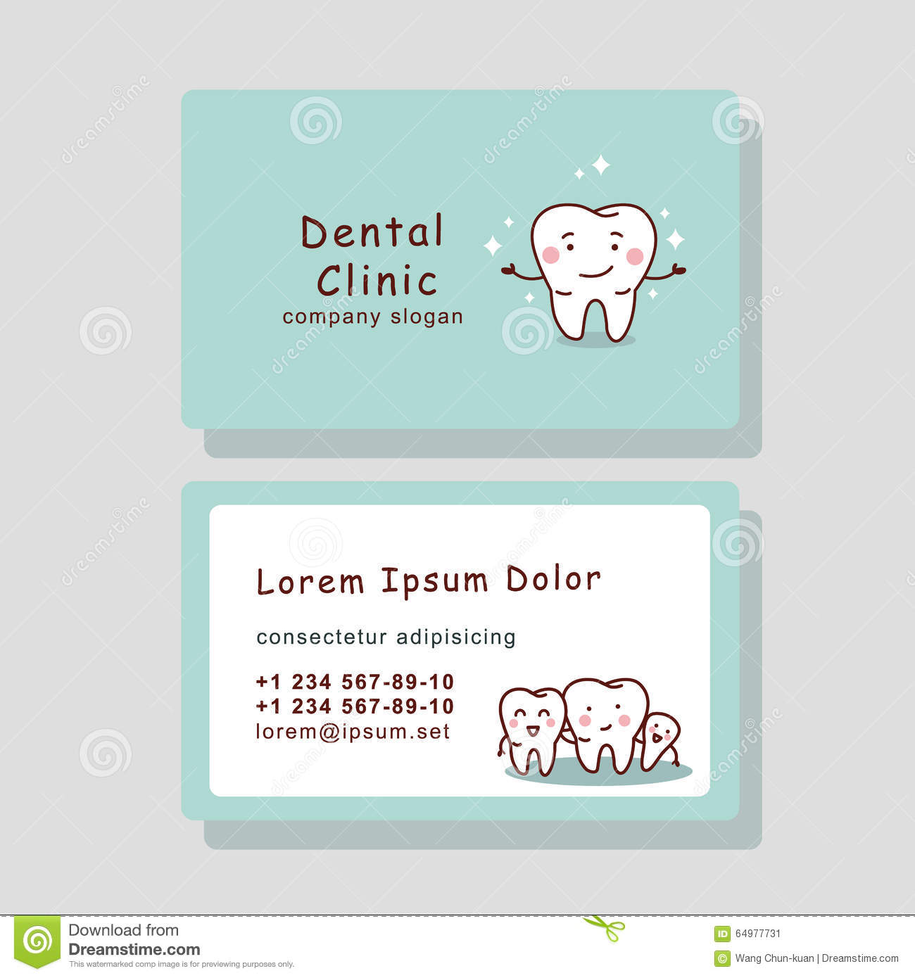 Business Card Template Design For Your Dental Clinic Stock Image ...