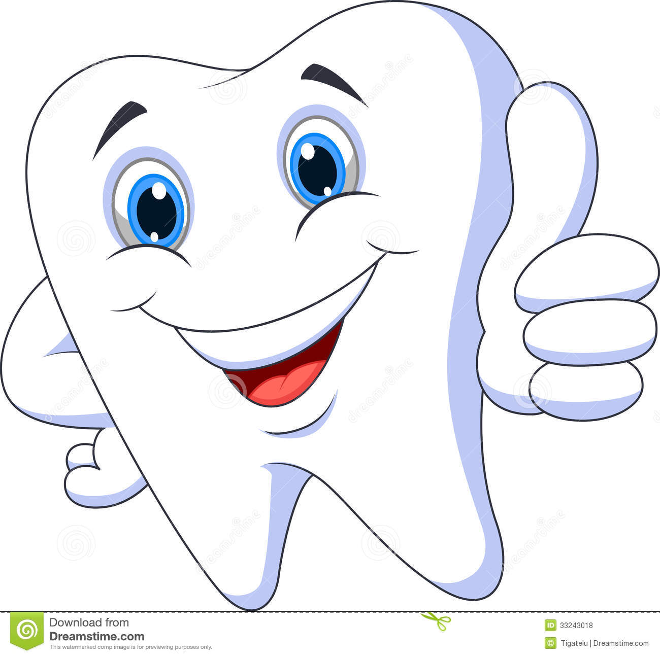 Cute Cartoon Tooth With Thumb Up Royalty Free Stock Photos - Image ...