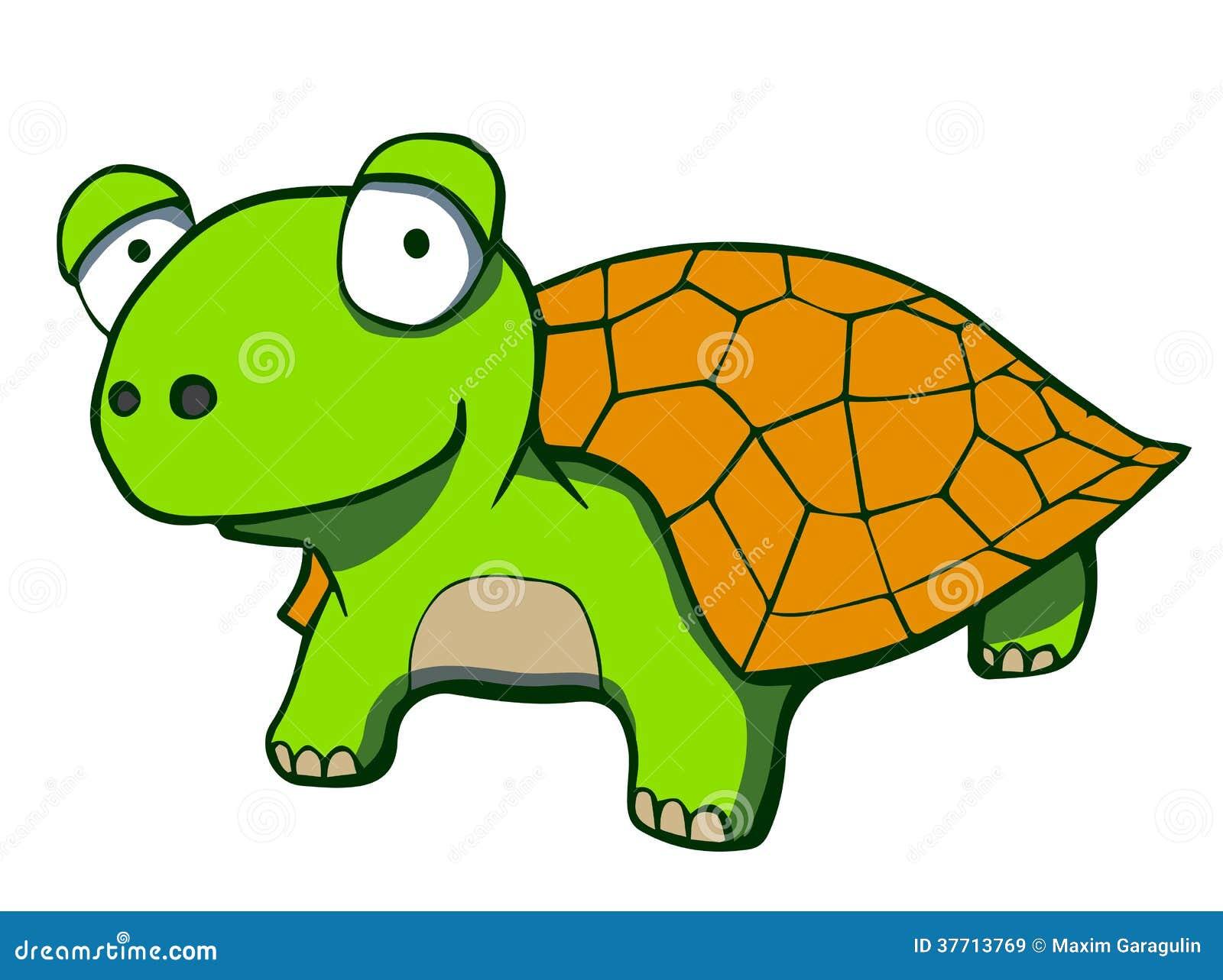 Cute Cartoon Turtle. Vector Illustration Royalty Free ...