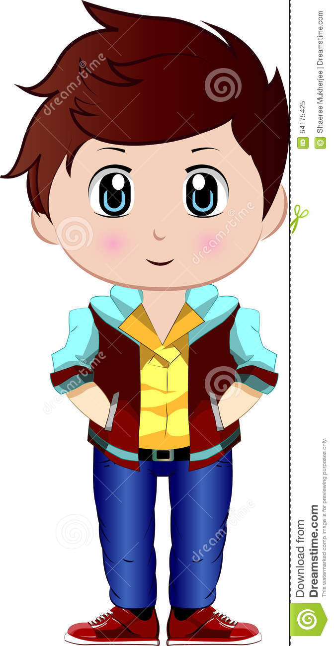 Cute Cartoon Vector Boy Stock Vector Illustration Of Bright