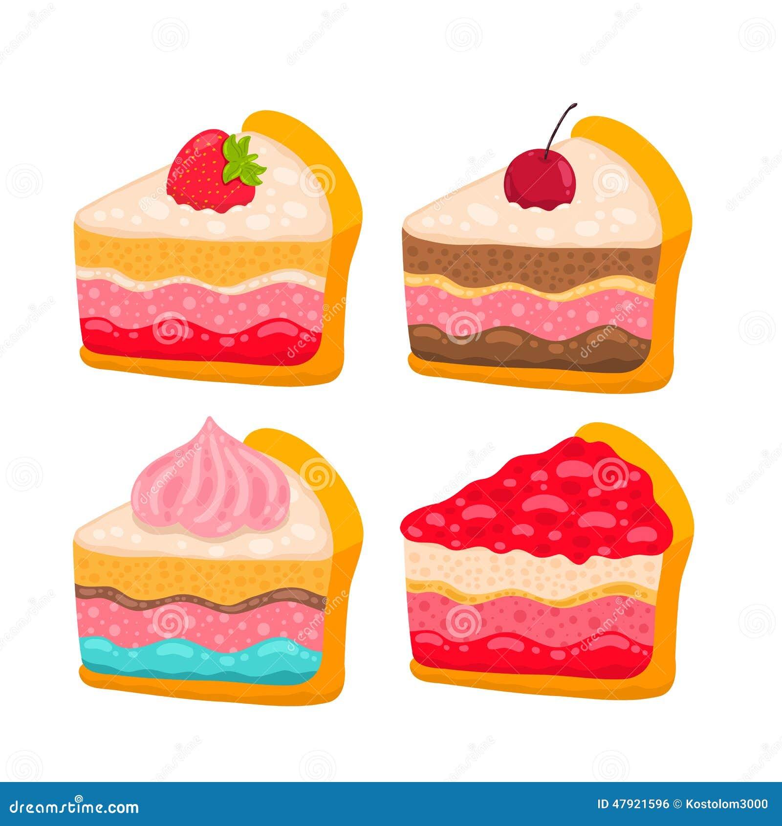 Birthday Cake Slice Cartoon