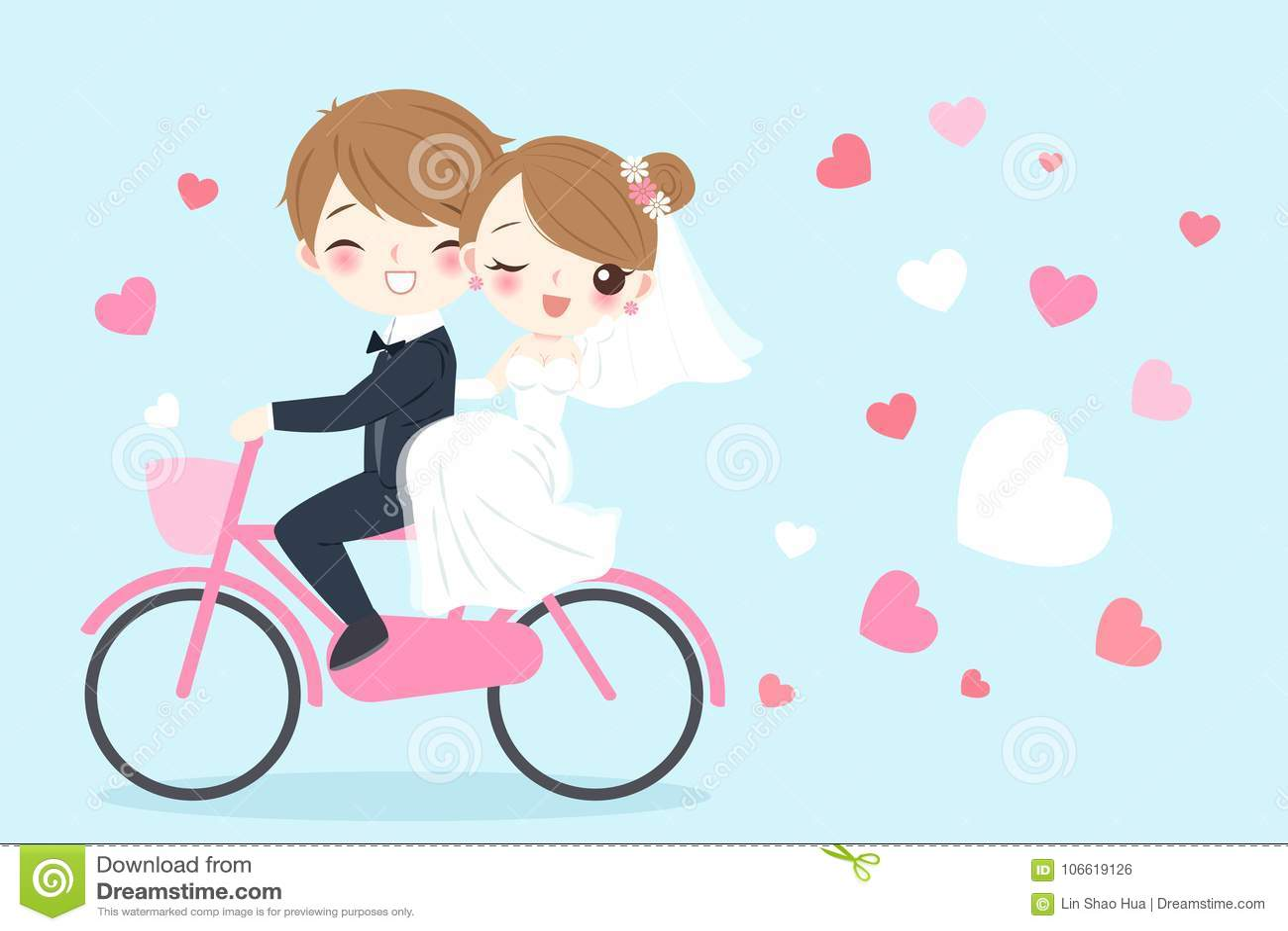 Cartoon Wedding People Stock Illustration Illustration Of