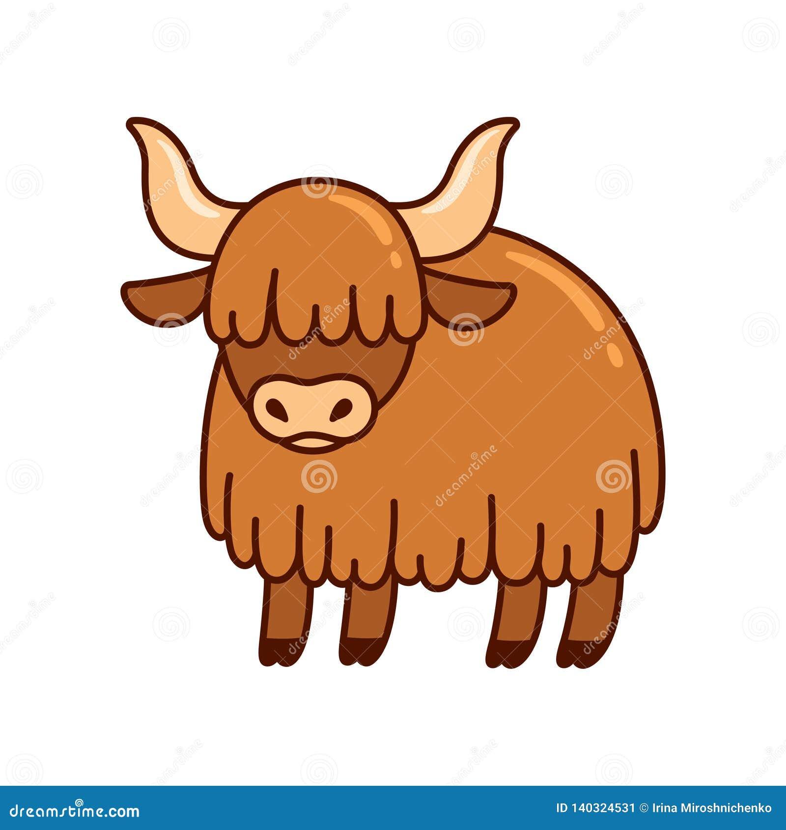 vector cartoon animal clipart: tibetan yak Stock Vector Image & Art - Alamy