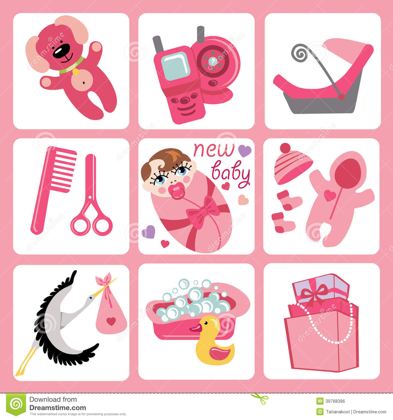cute cartoons icons for european baby girl newborn stock baby clothes clipart free baby clothes clipart free