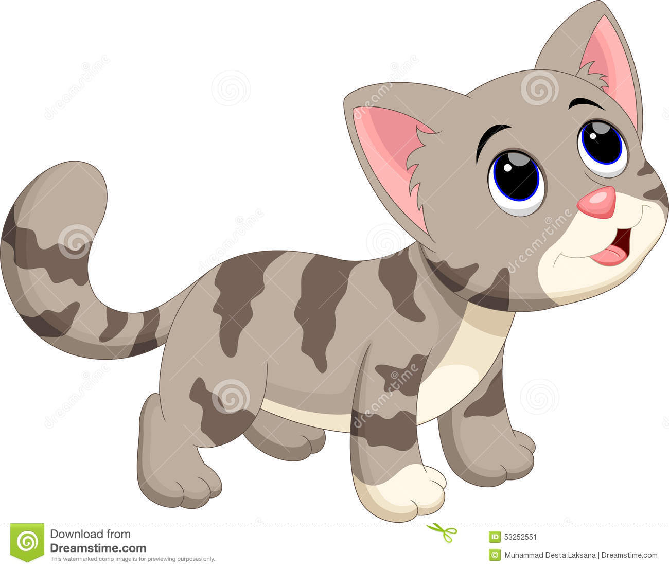 Stock Illustration Cute Cat Cartoon Illustration Image53252551