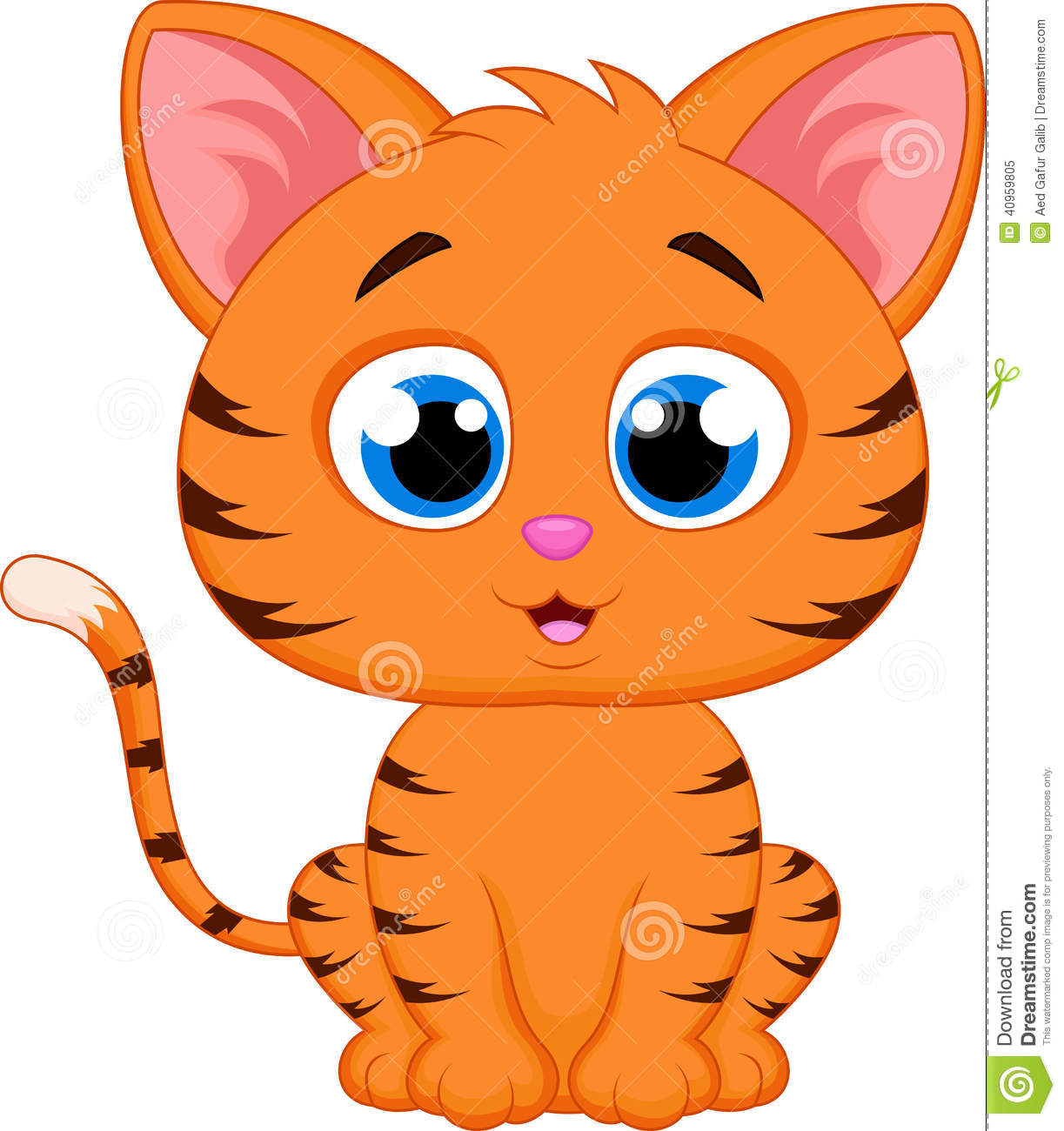 Cute Cat Cartoon Stock Vector Image