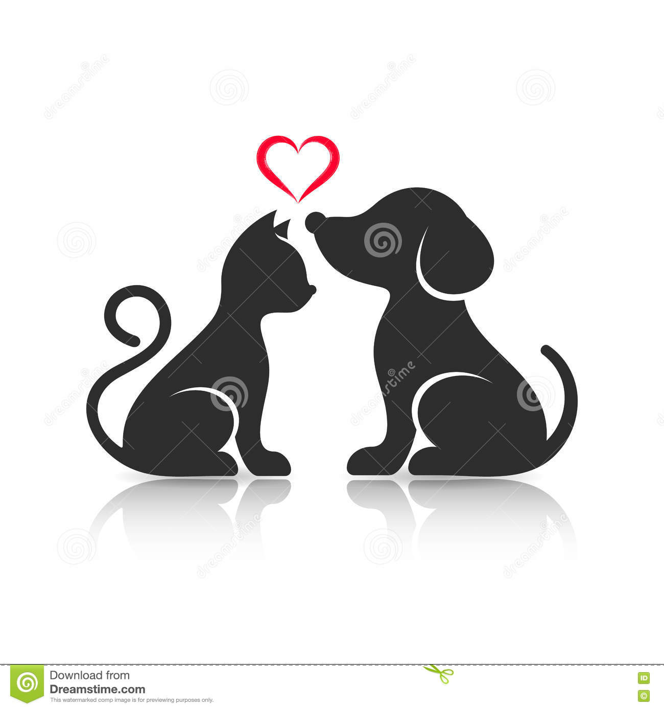 cute cat and dog silhouettes stock vector illustration dog paw print clip art silhouette dog paw print clip art download
