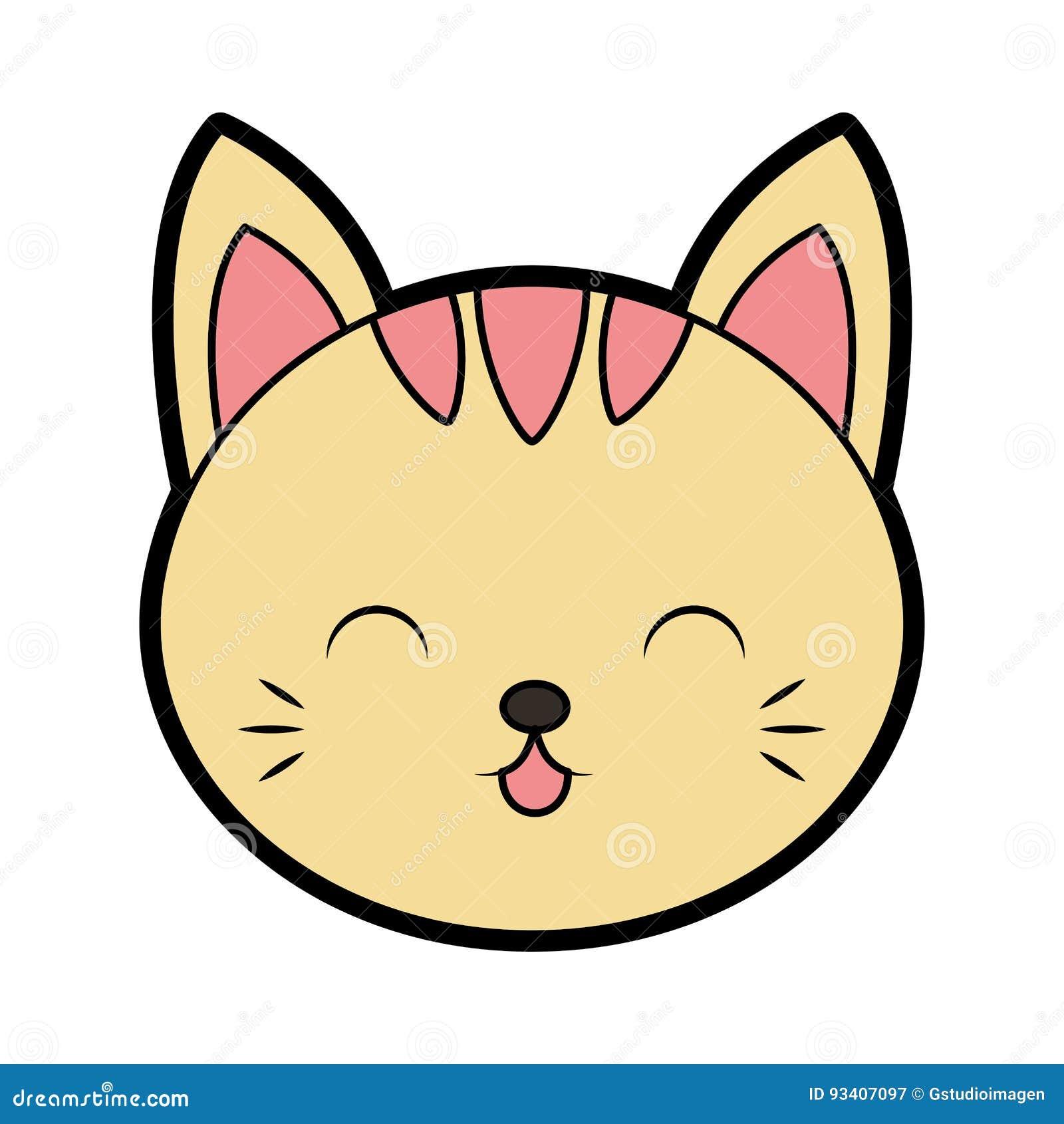 cute cat face cartoon stock vector illustration of illustration