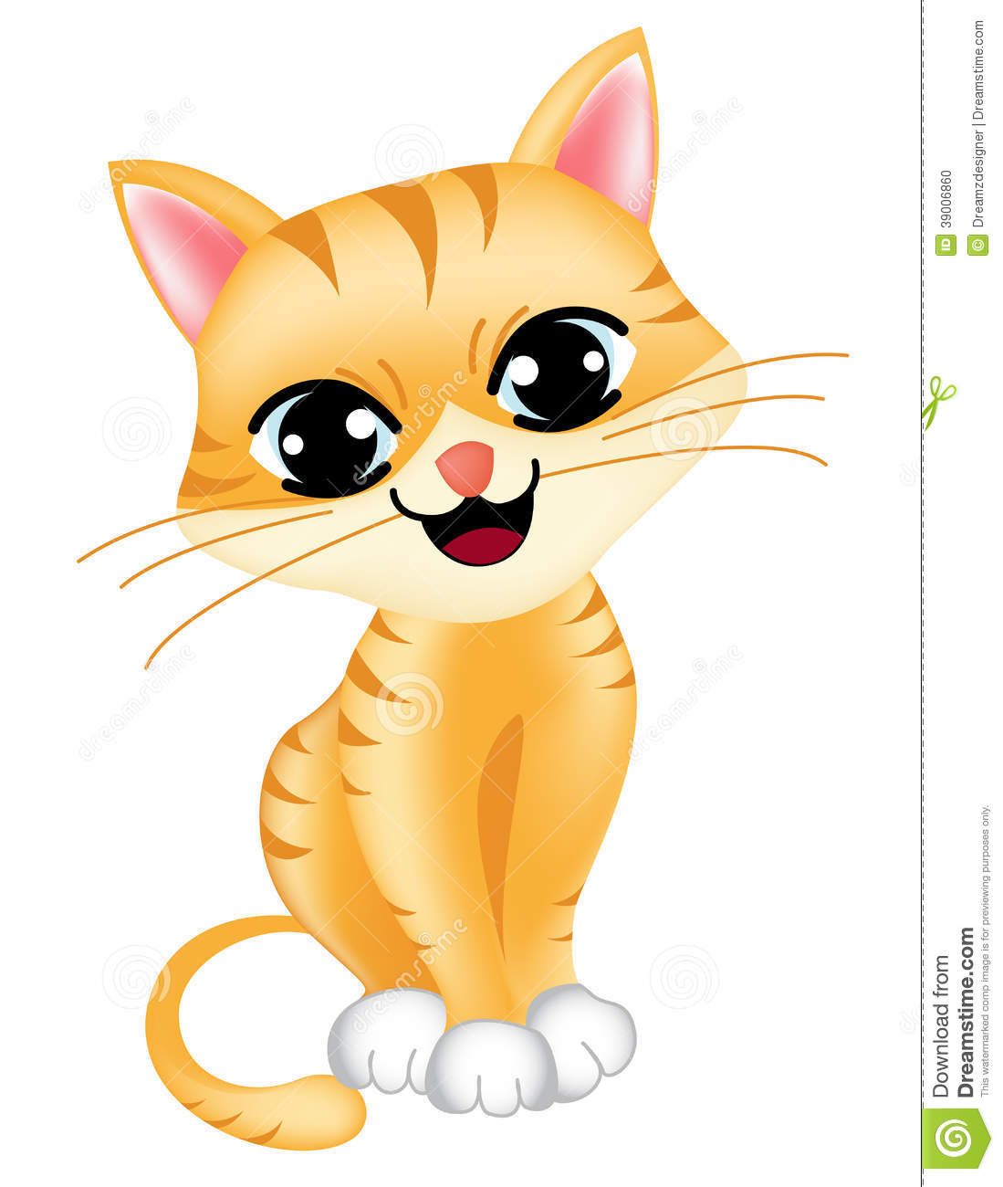 ... cat / kitten isolated on white background illustration / clipart