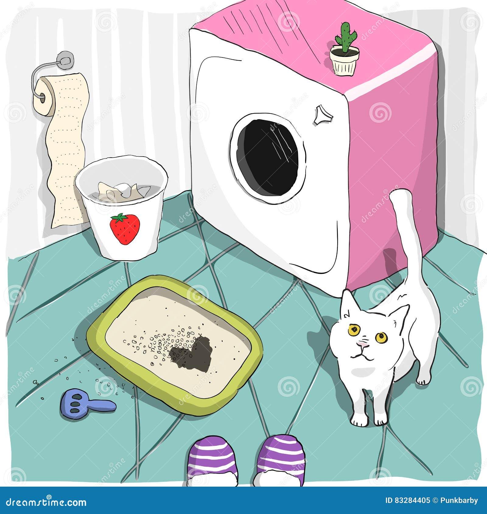 Litterbox Stock Illustrations – 33 Litterbox Stock Illustrations ...