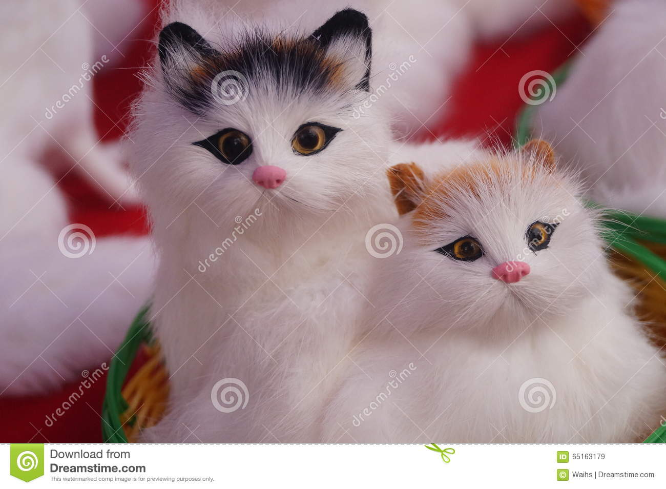 cute cat toys stock image. image of animals, life, objects - 65163179
