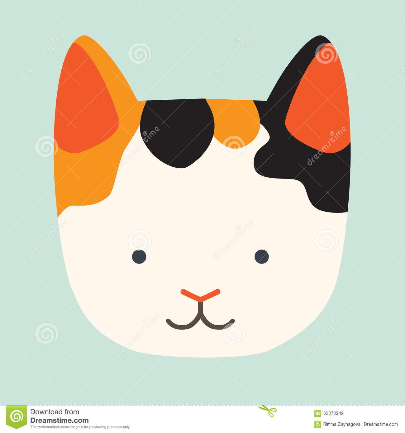 Cute Cat Vector Icon Stock Vector - Image: 62370342 Smiling Dog And Cat