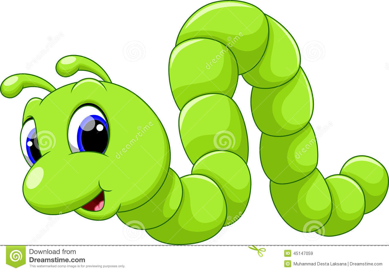 Cute Caterpillar Cartoon Illustration 45147059 Megapixl