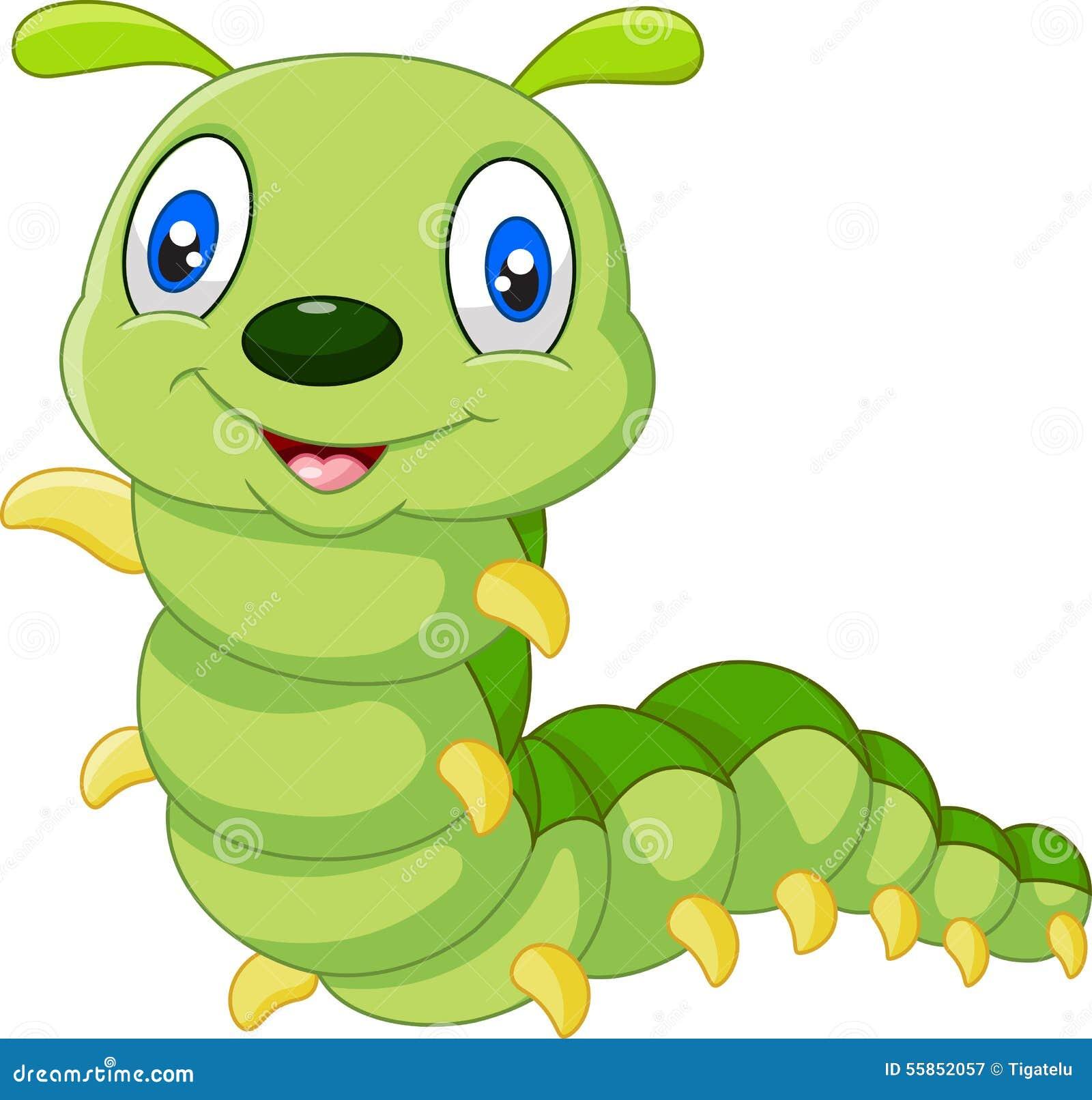 Cute Caterpillar Cartoon Stock Vector - Image: 55852057