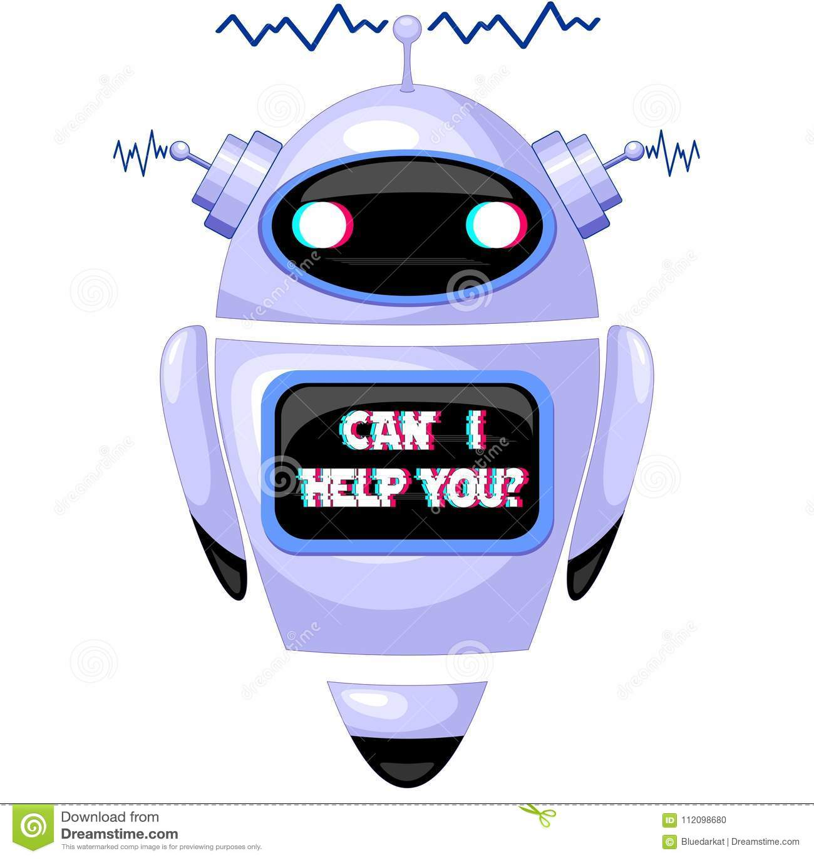 ChatBot FAQ Robot stock vector  Illustration of database