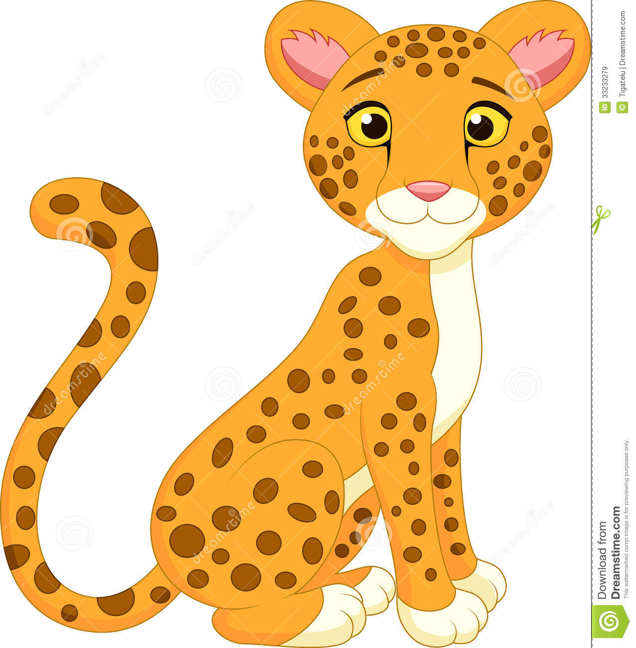 Download Cute Cheetah Cartoon Royalty Free Stock Images - Image ...