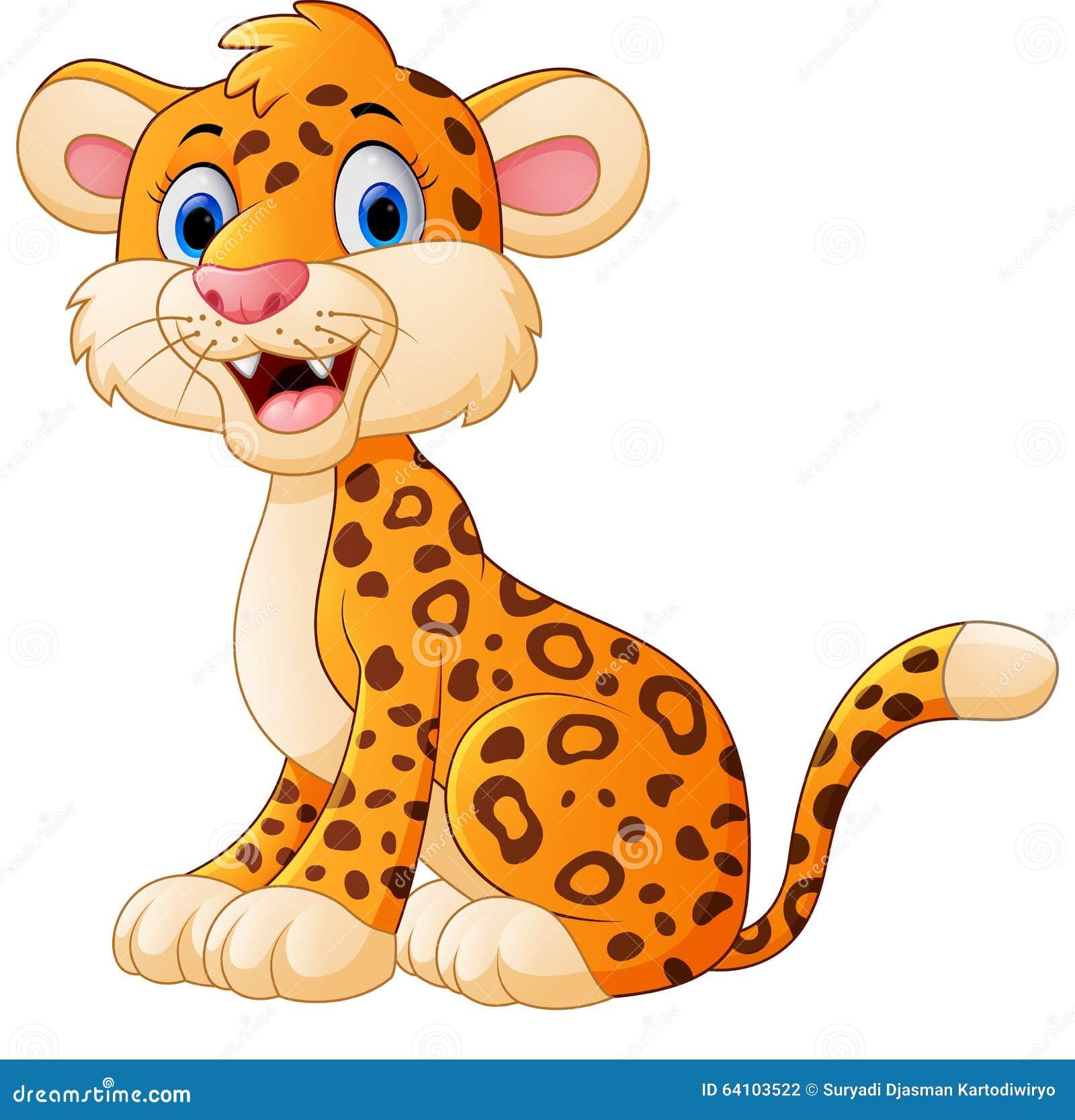 Cute Cheetah Cartoon Stock Vector - Image: 64103522