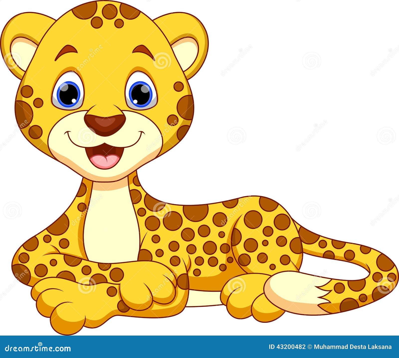 Cute Cheetah Cartoon Stock Illustration - Image: 43200482