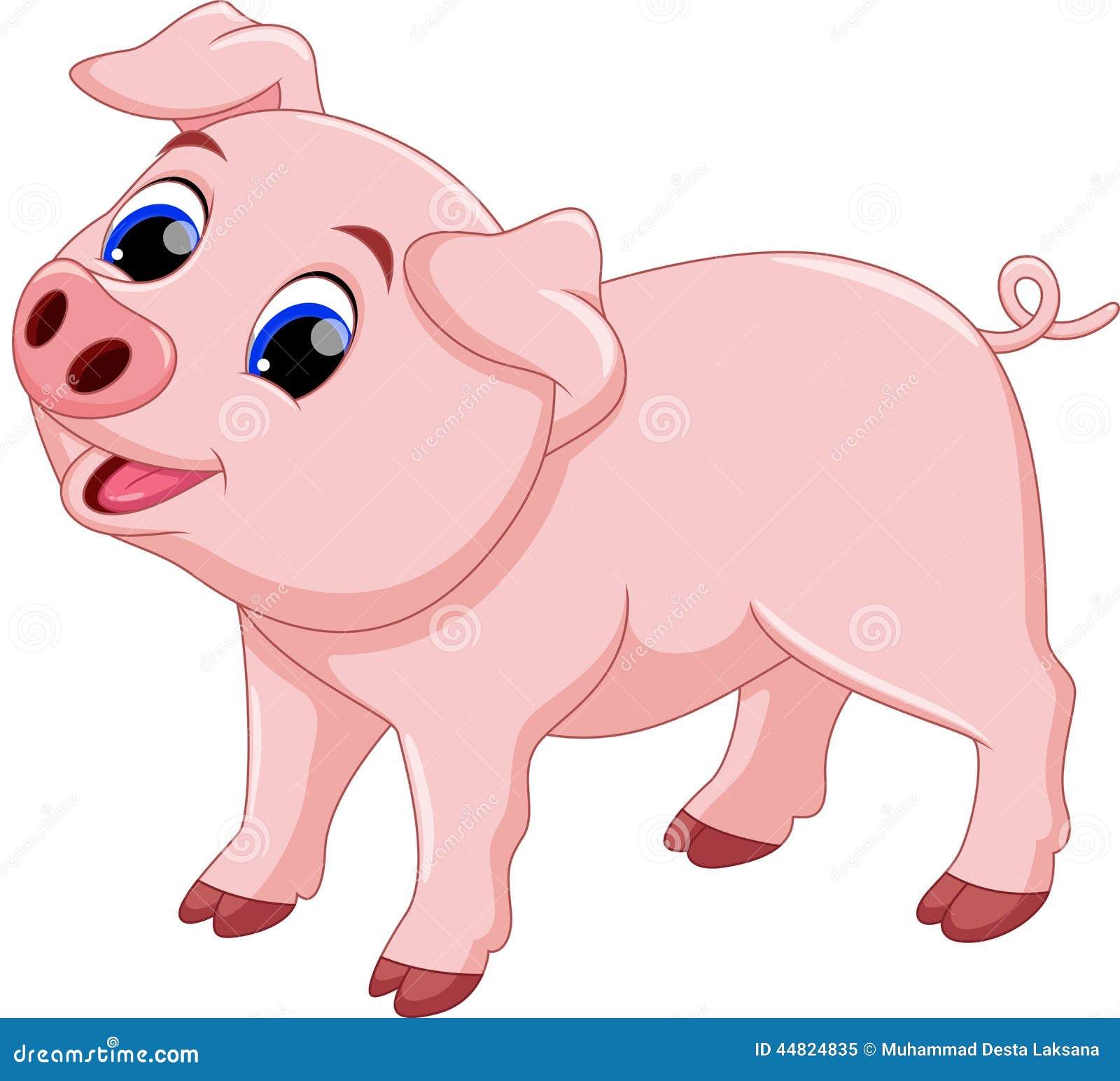 Cute Chef Pig Cartoon Stock Illustration - Image: 44824835