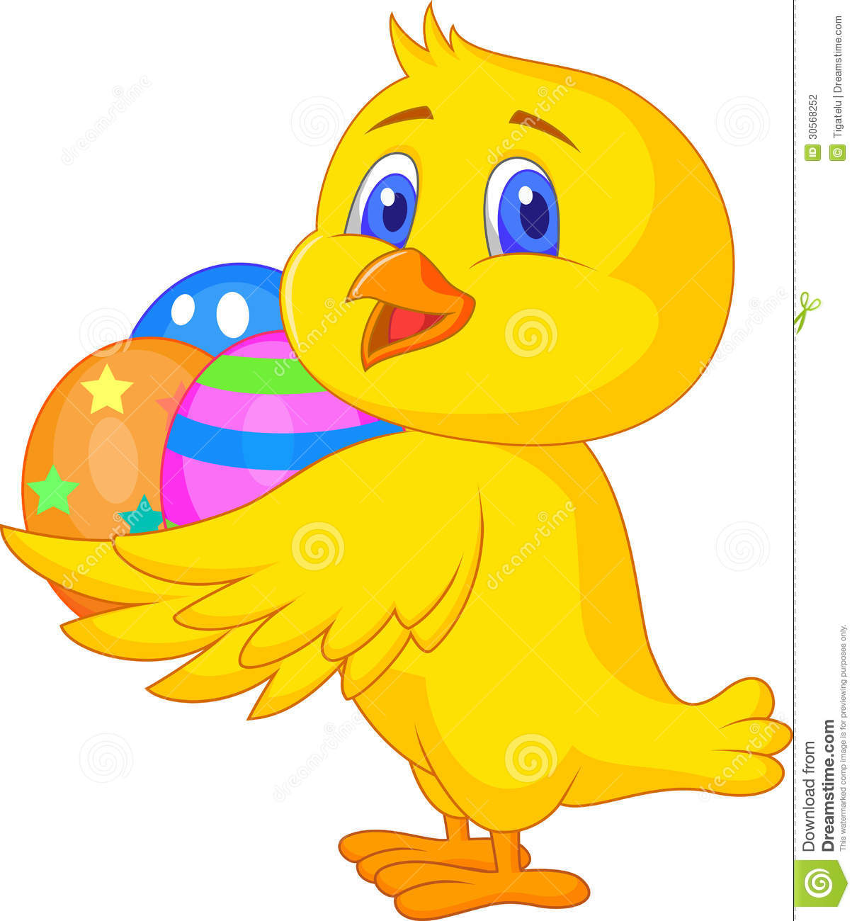 Cute Chicken Cartoon With Easter Egg Stock Photography ...
