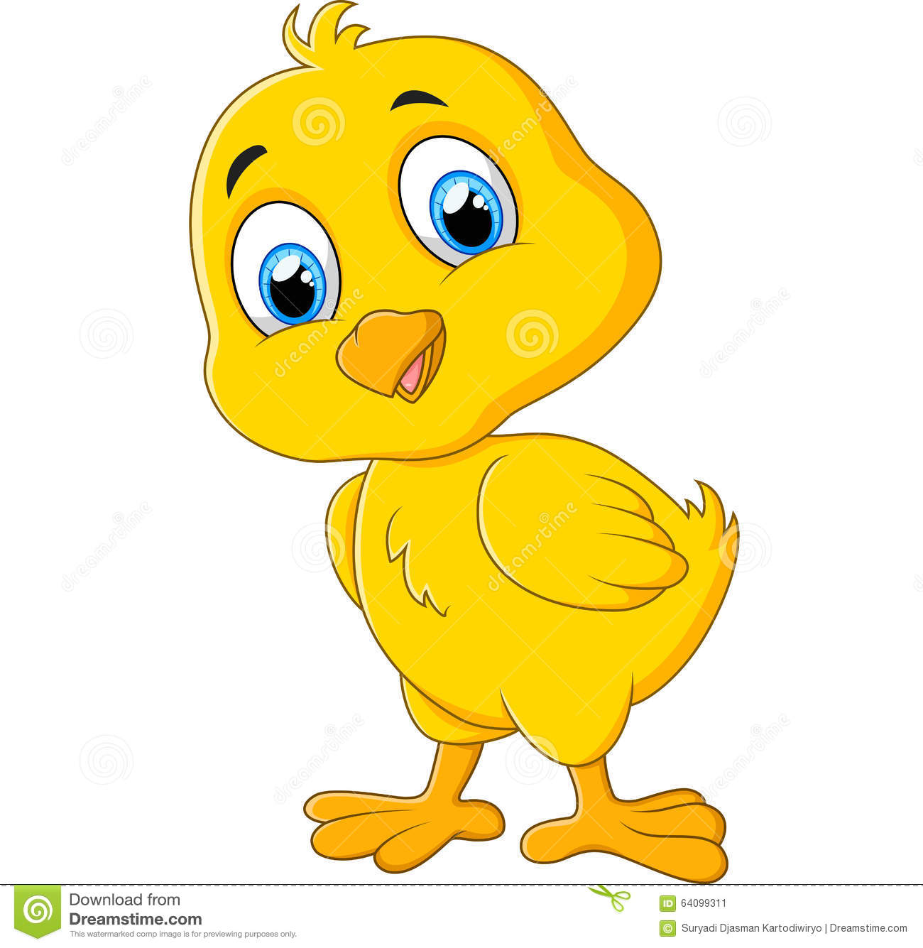Cute Chicken Cartoon Stock Vector - Image: 64099311