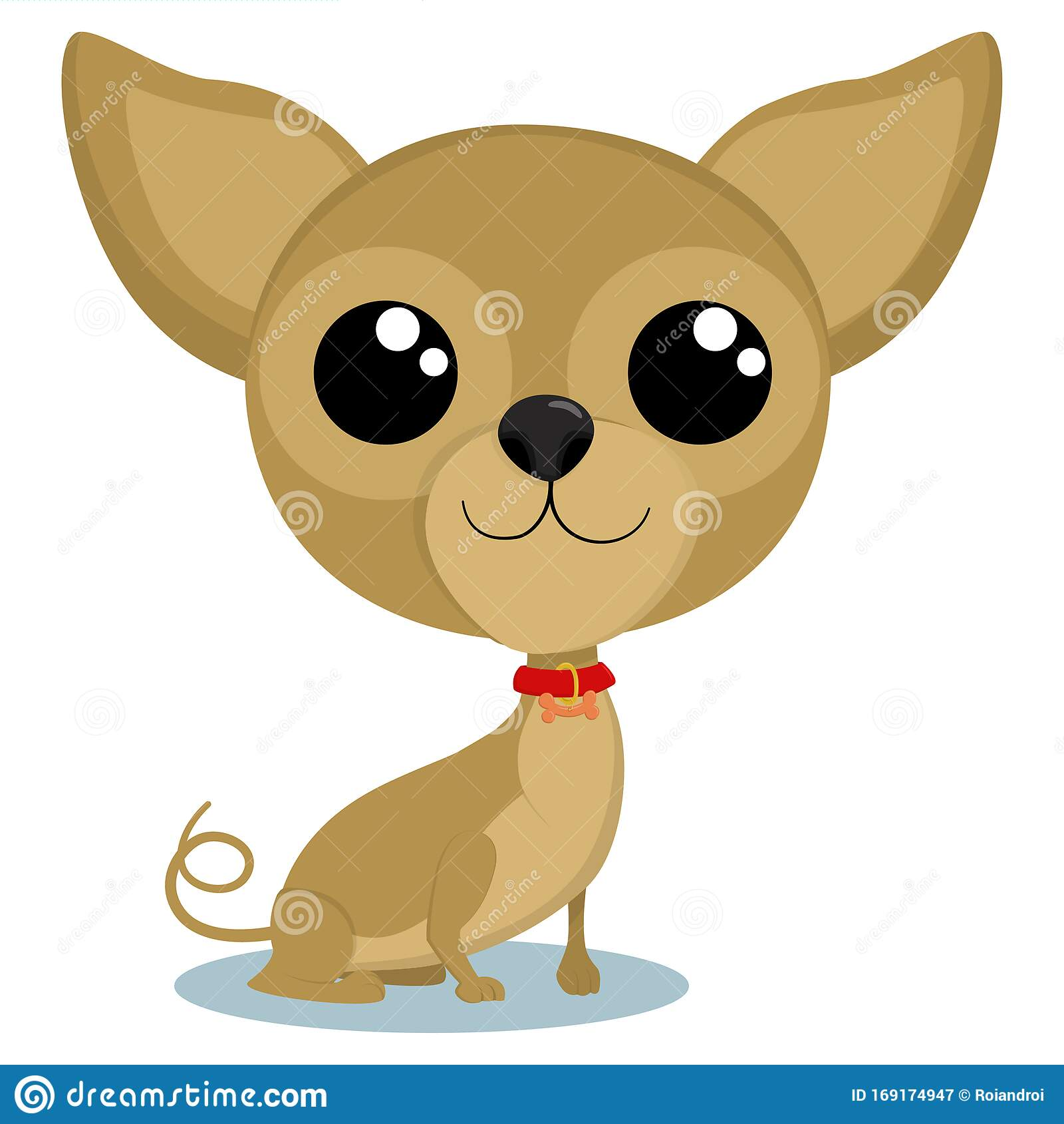 Chihuahua Puppy Cute Little Dog Vector Stock Vector Illustration Of Looking Drawing 169174947