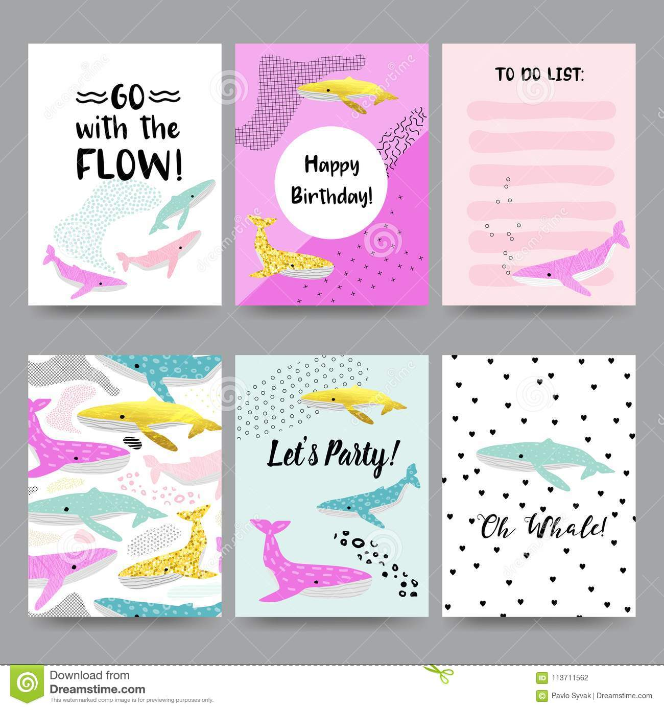 Happy Birthday Invitation Templates With Underwater Creatures Childish Marine