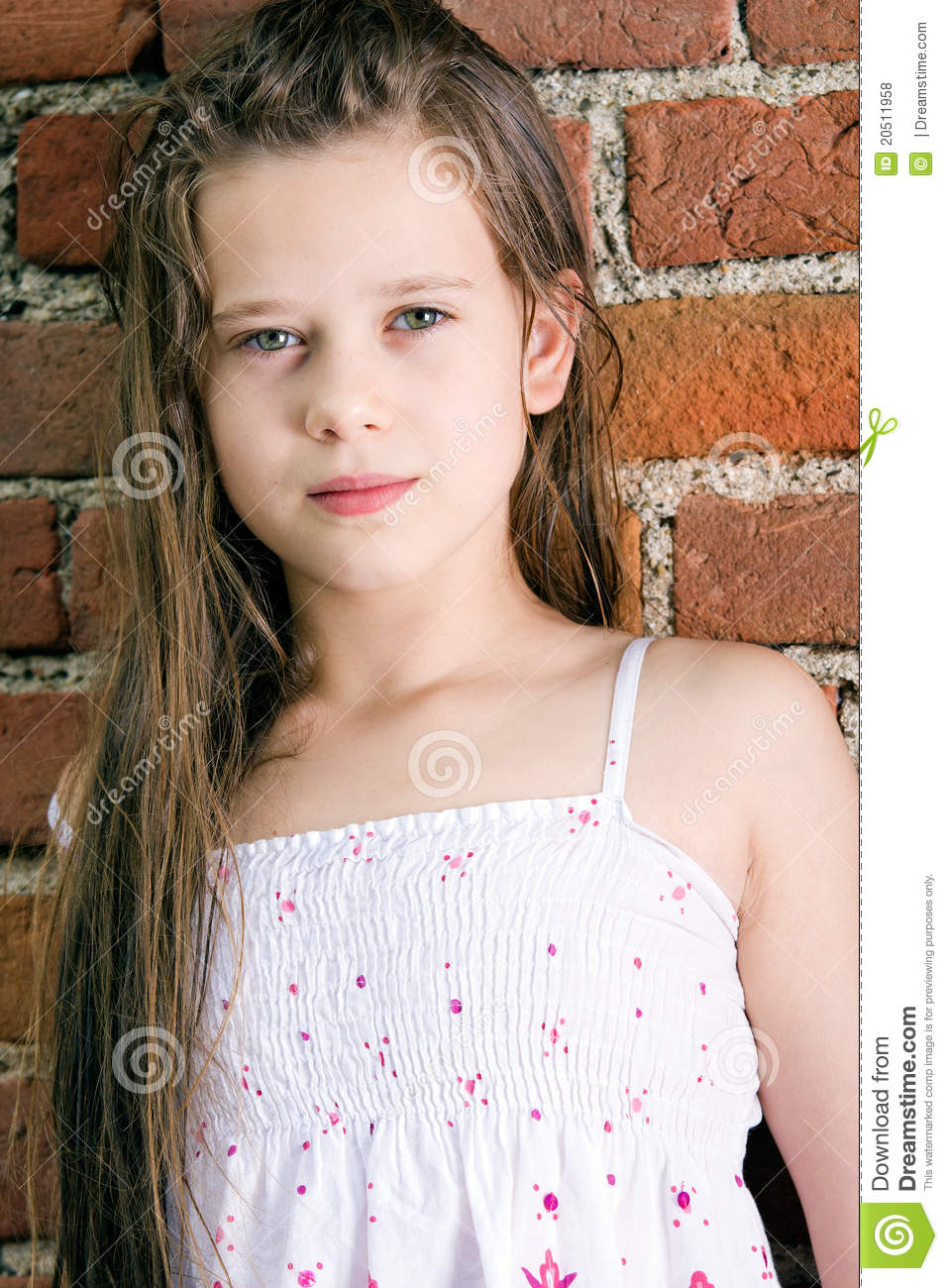 Cute Child Girl Stock Photo. Image Of Looking, Female