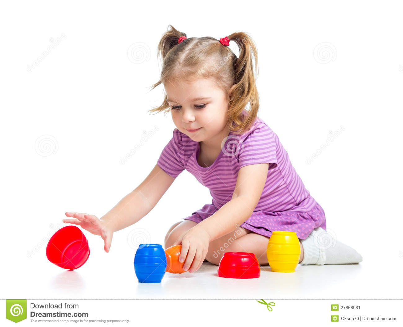 Cute Child Girl Playing With Toys Stock Image - Image -6722