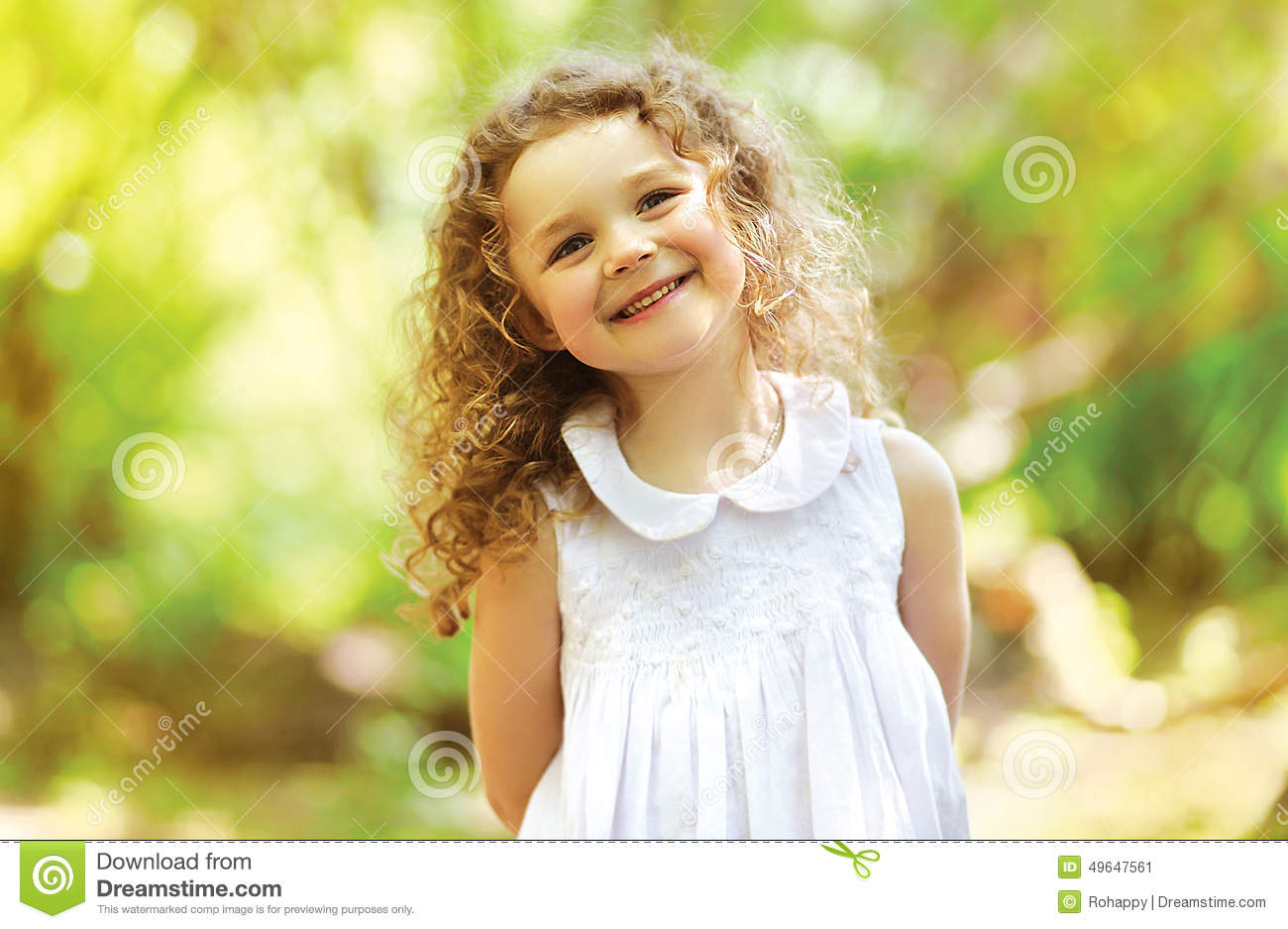 cute child shone with happiness stock photo image 49647561