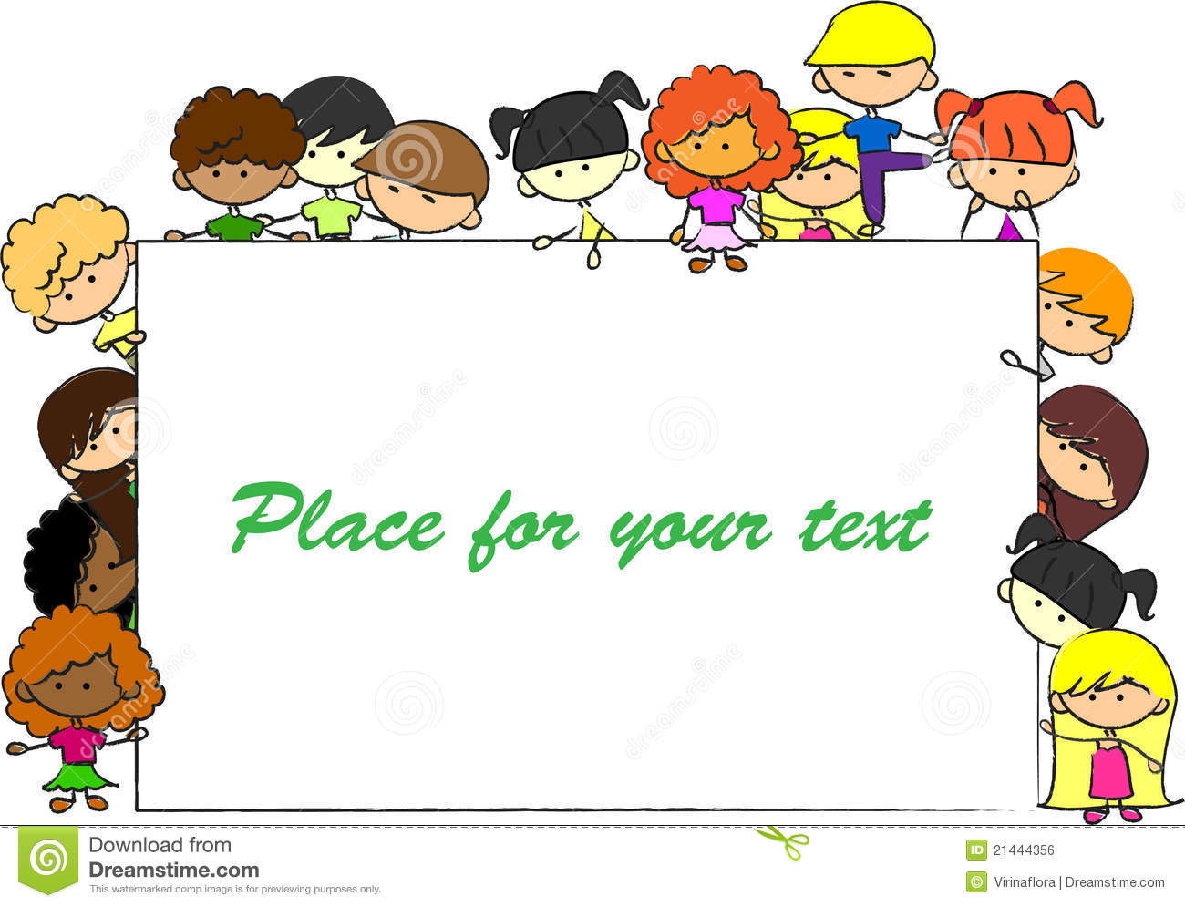 Cute Children, Frame, For Your Design Vector Royalty Free ...