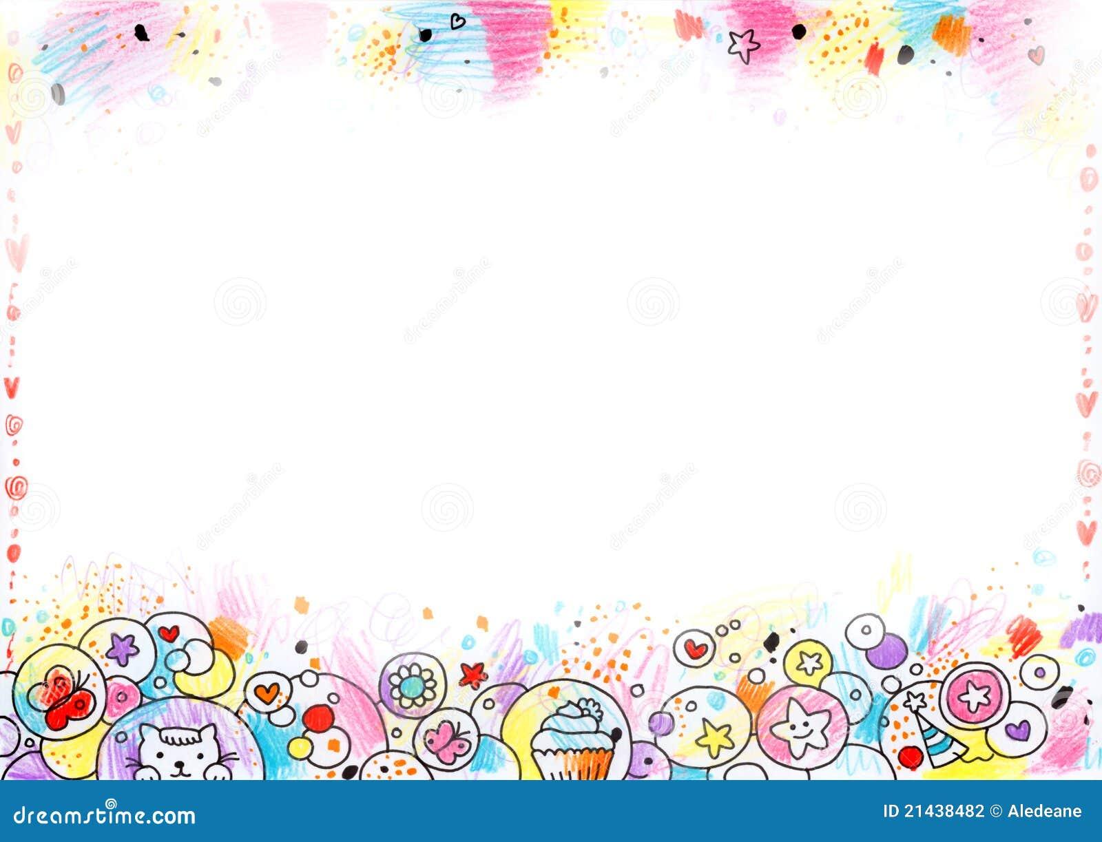 Cute Children S Background Stock Illustration