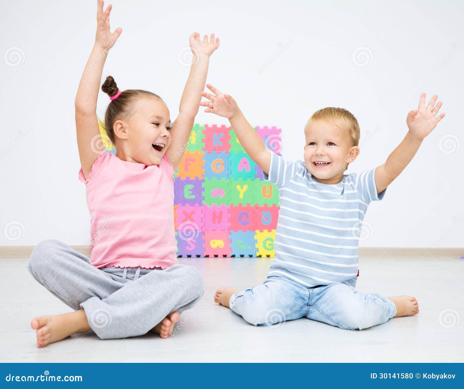 Childcare Floor Plans Children Are Sitting On Floor Stock Photo Image 30141580