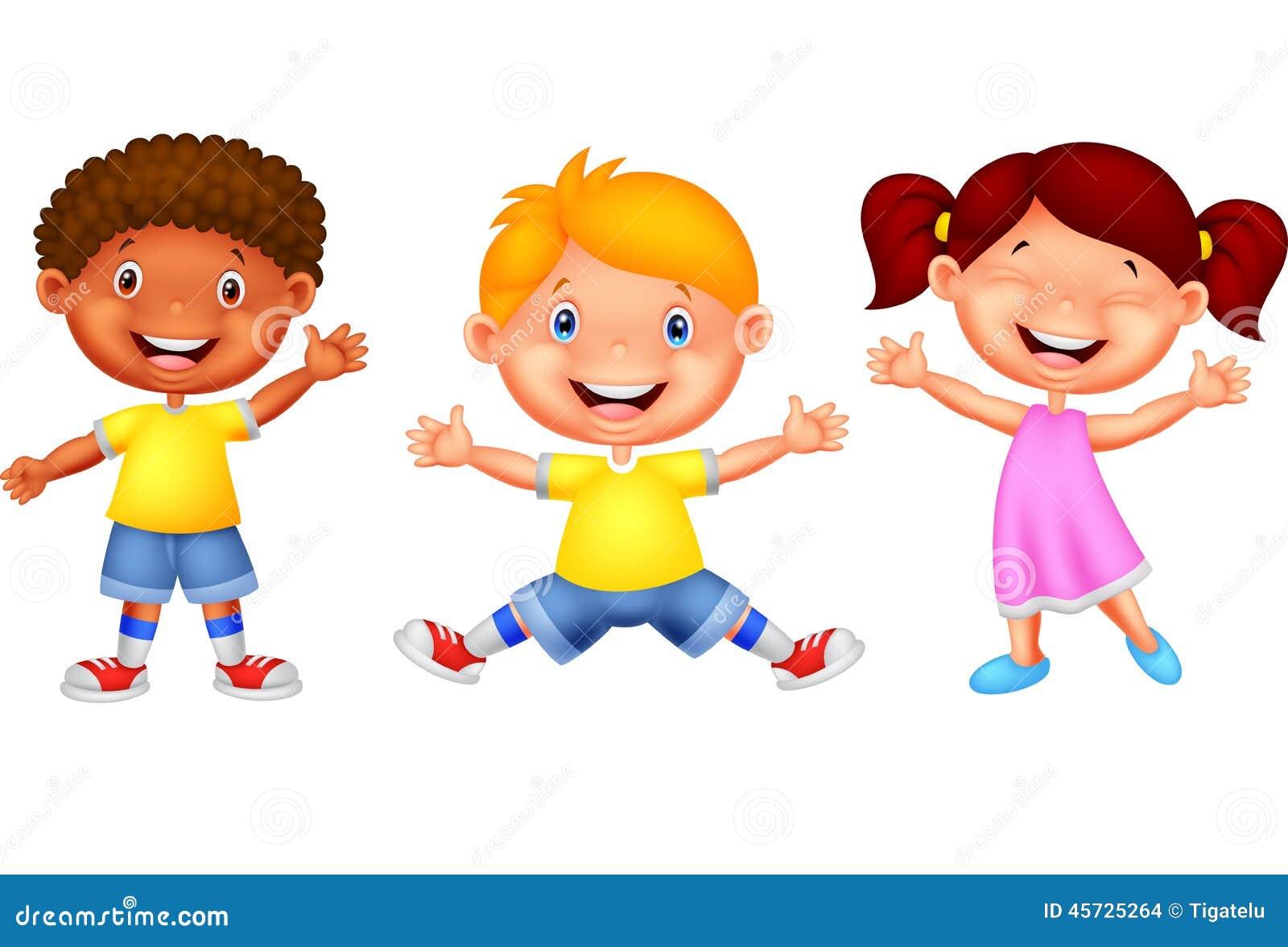 Cute children waving hand stock vector. Image of couple ...