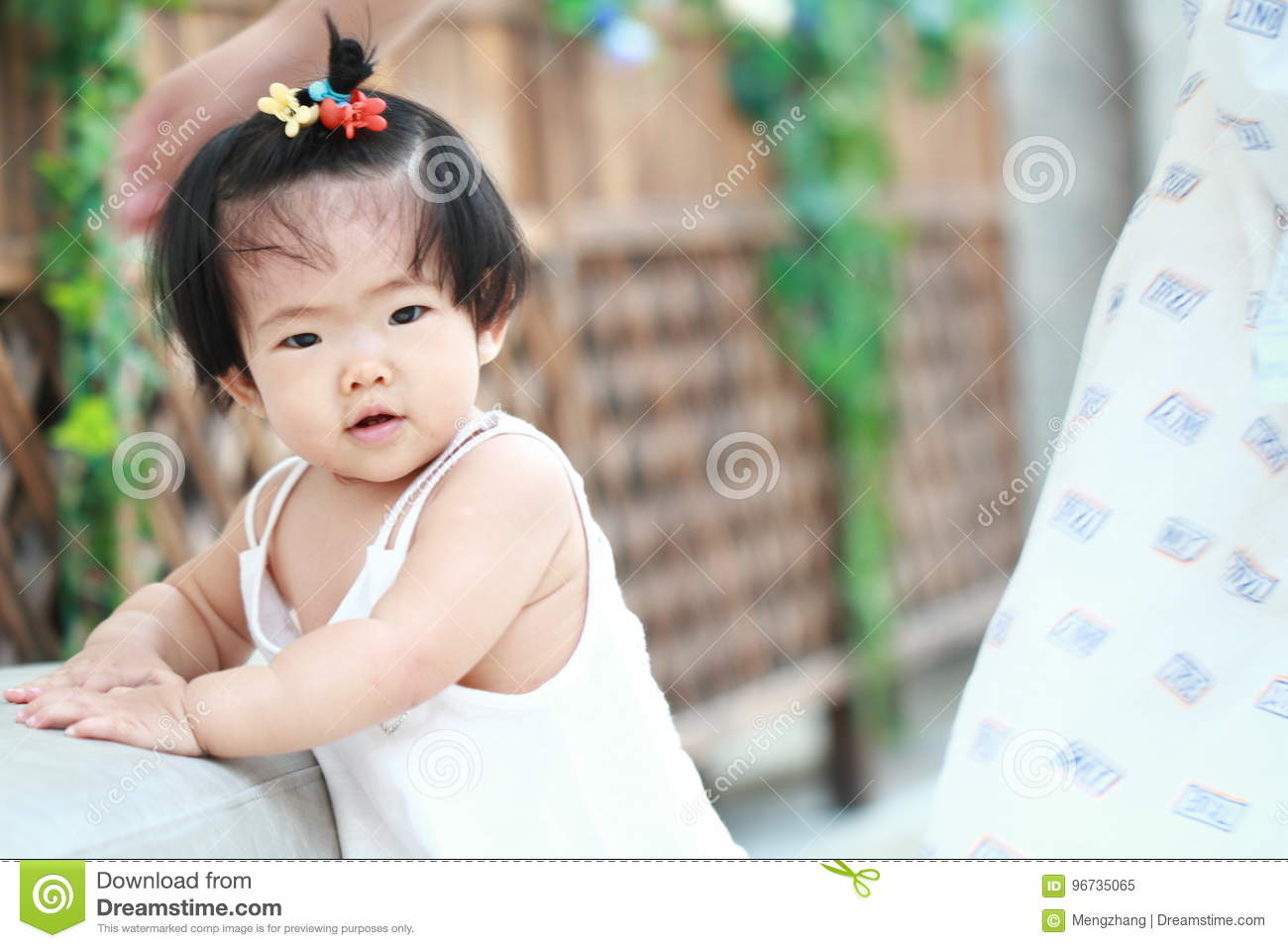cebe94151 Cute Chinese Baby Girl Learn How To Walk Stock Image - Image of cute ...