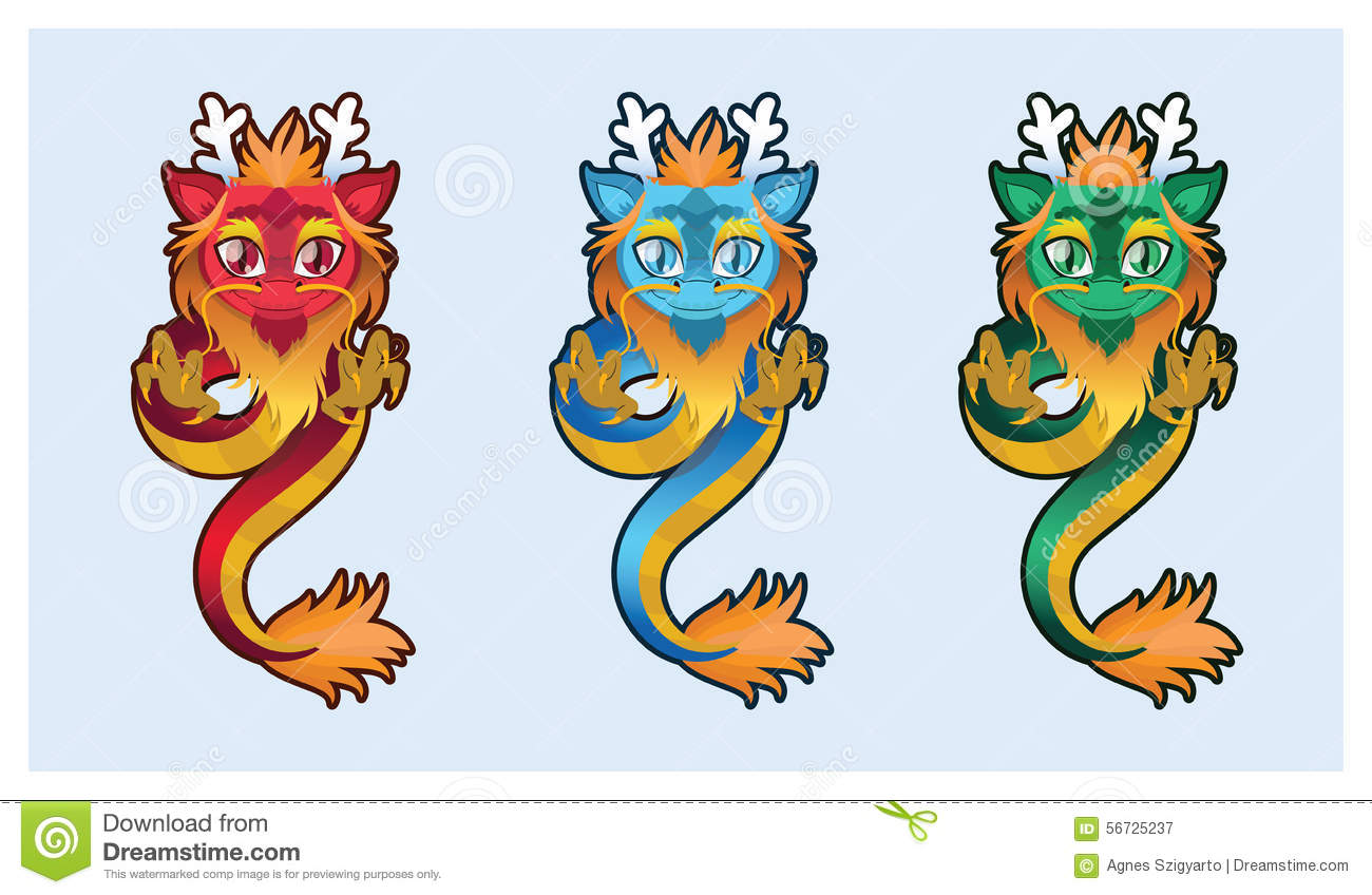 cute chinese dragon stock vector image of blue chinese 32365178