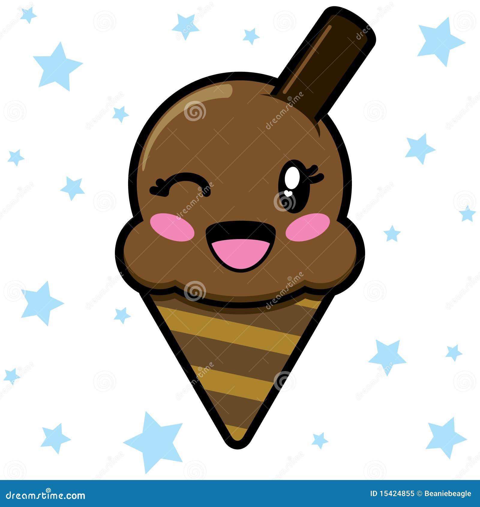 cute chocolate ice cream eps royalty free stock photo Love Smiley Face Clip Art Flower Smiley Face Clip Art