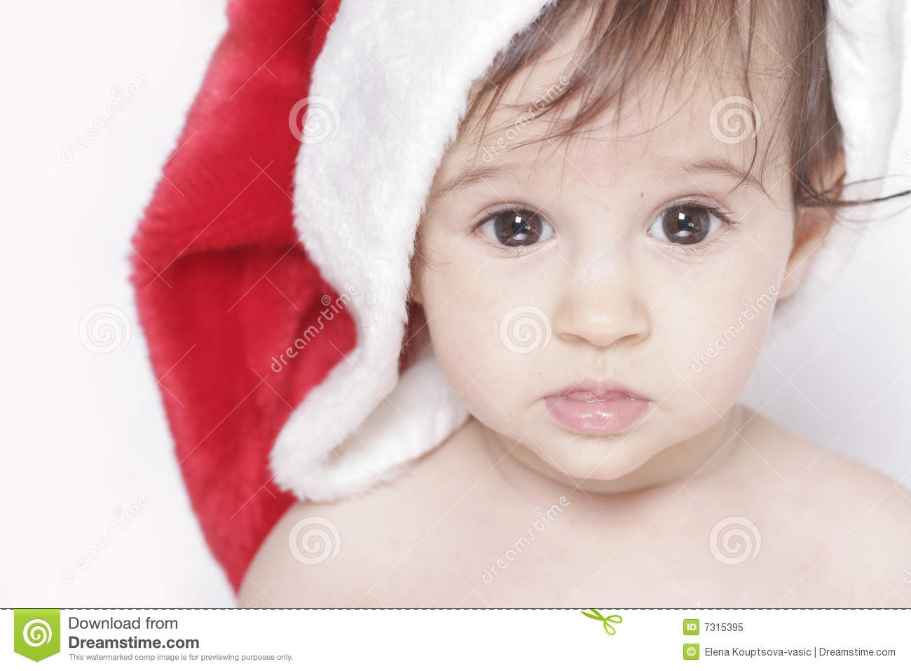 Cute christmas baby royalty free stock photo image 7315395