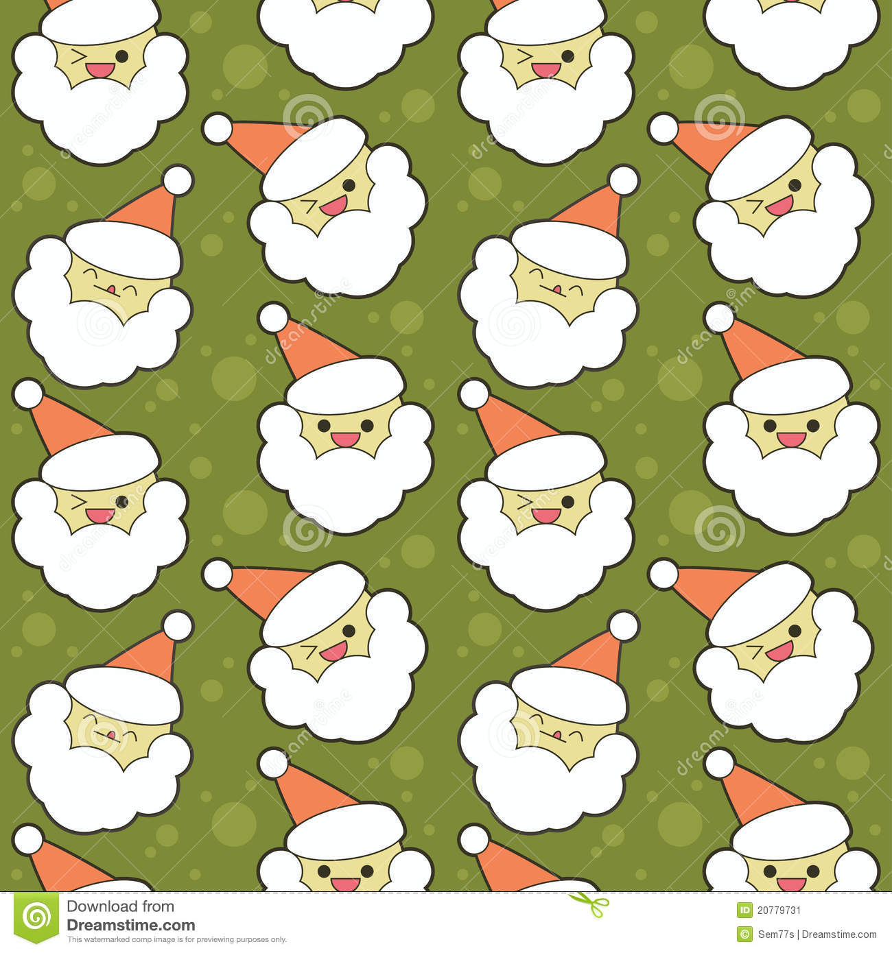 Cute Christmas background stock vector. Illustration of round - 20779731