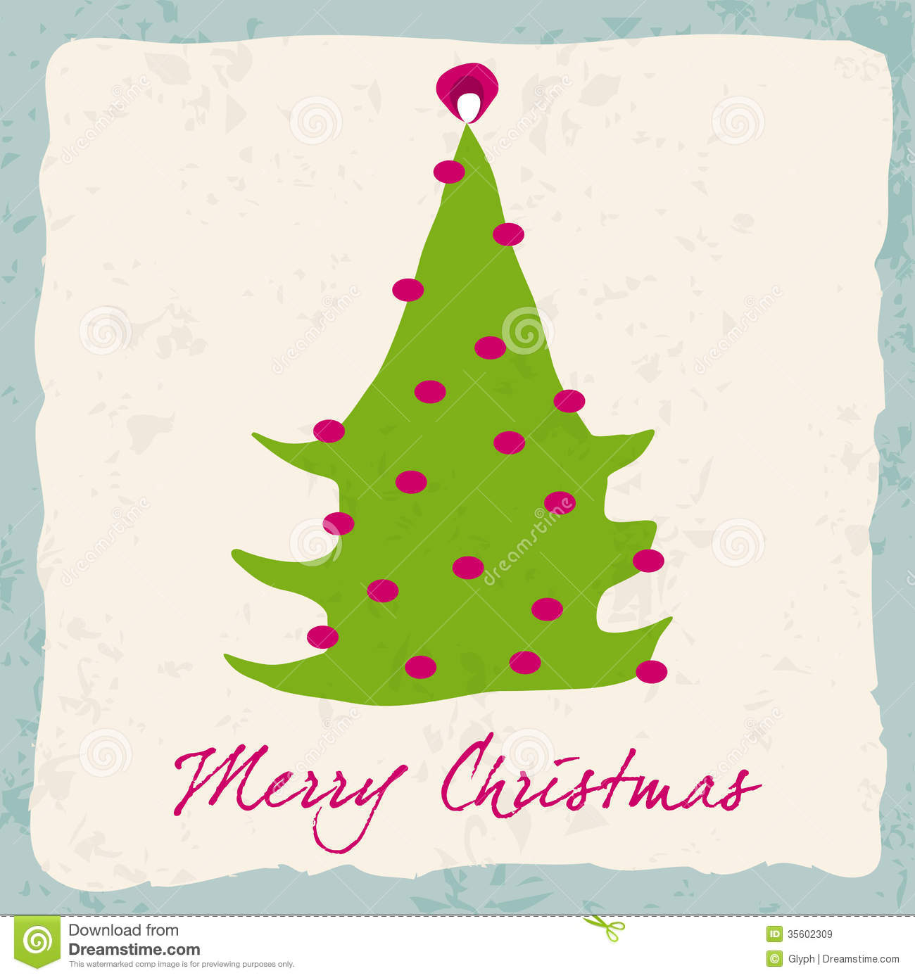 Cute christmas card stock vector image of drawing frame for Cute christmas tree drawing