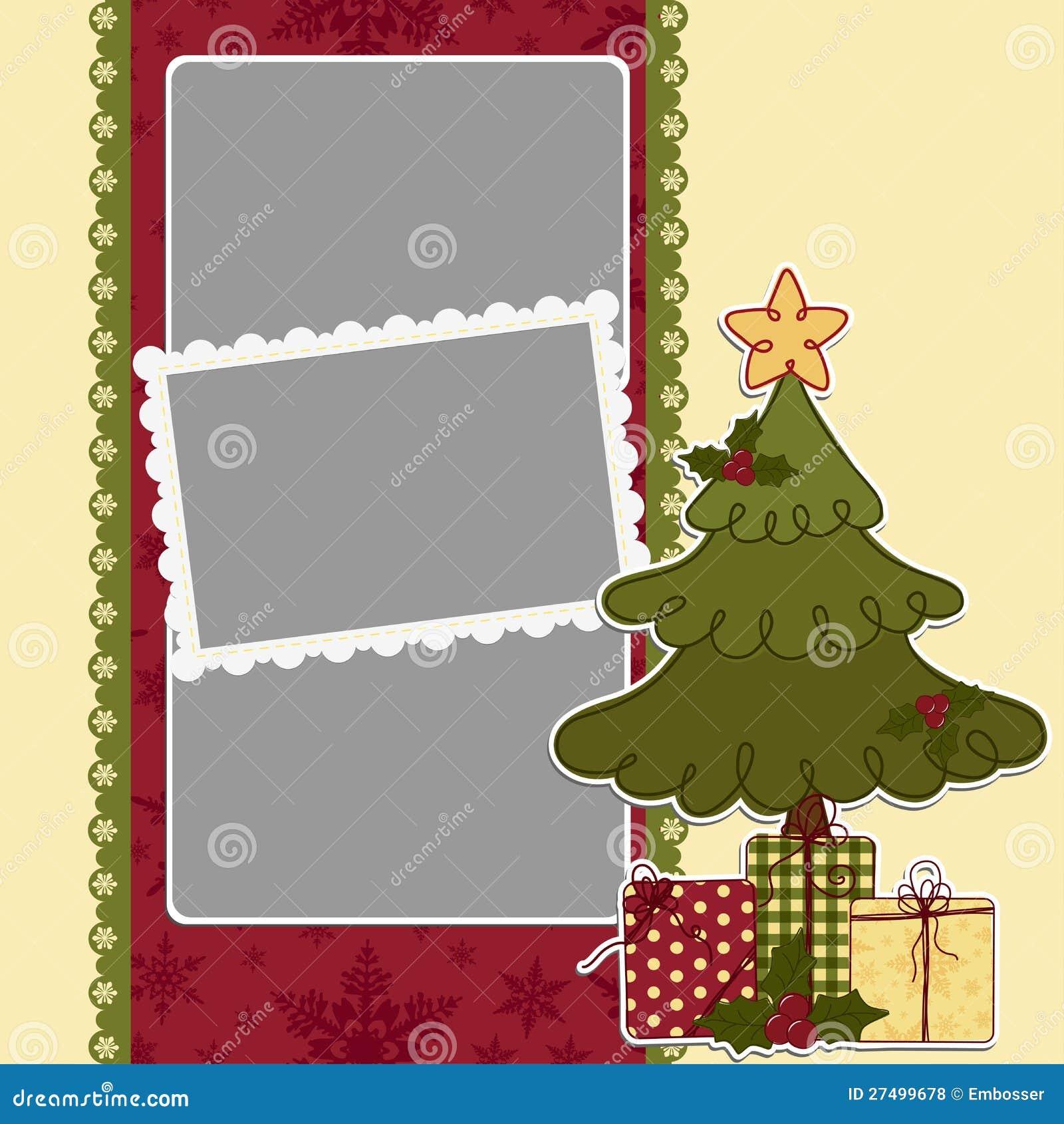 cute christmas frame template stock vector