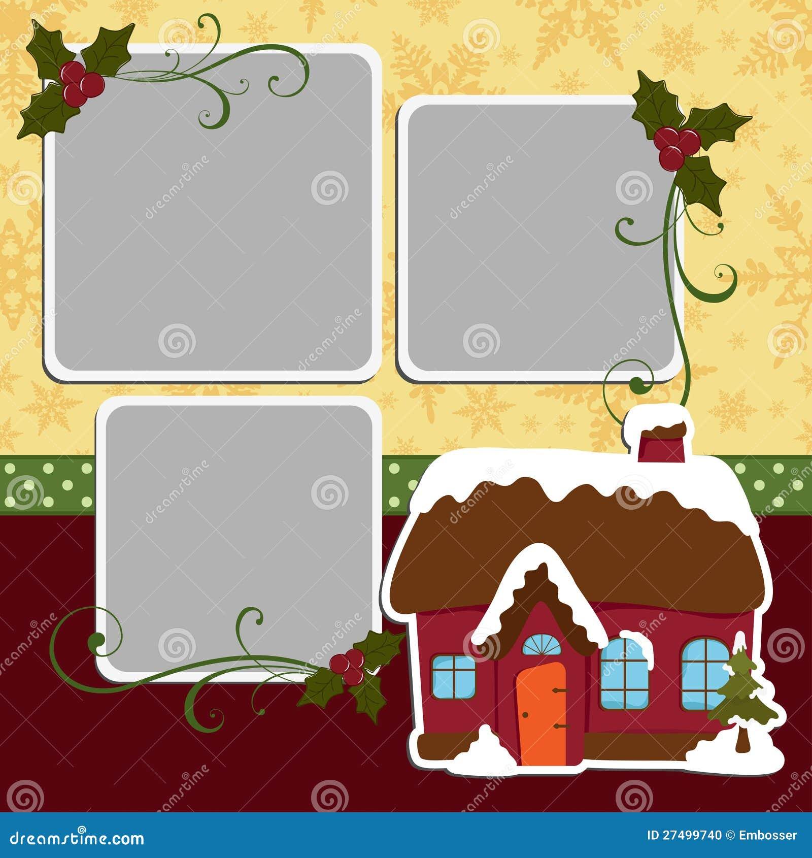 Cute Christmas Frame Template Stock Photo - Image: 27499740