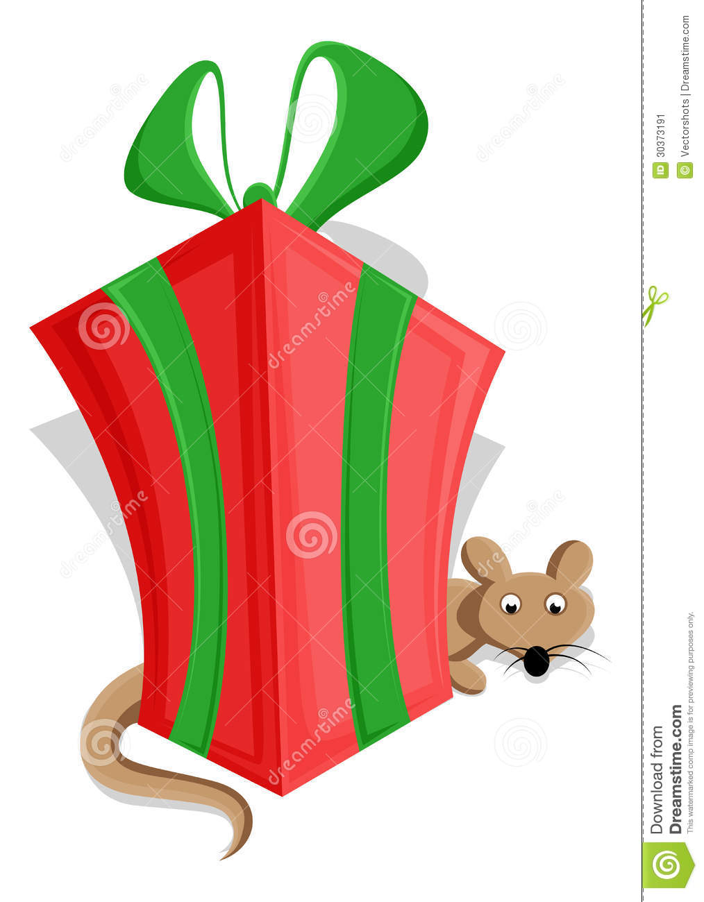 Cute Christmas Gift Box Vector