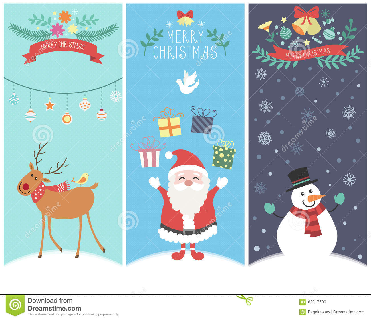 Christmas Graphic.The Cute Christmas Graphic Cartoon Design Stock Vector