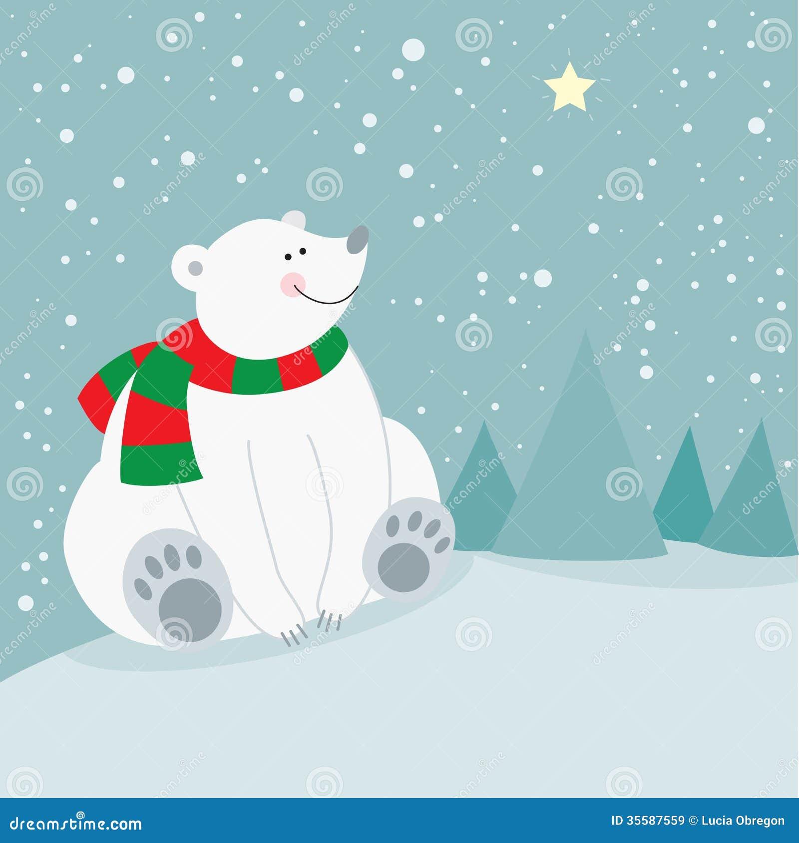 cute christmas holiday polar bear stock illustration christmas polar bear clipart free christmas polar bear clipart free
