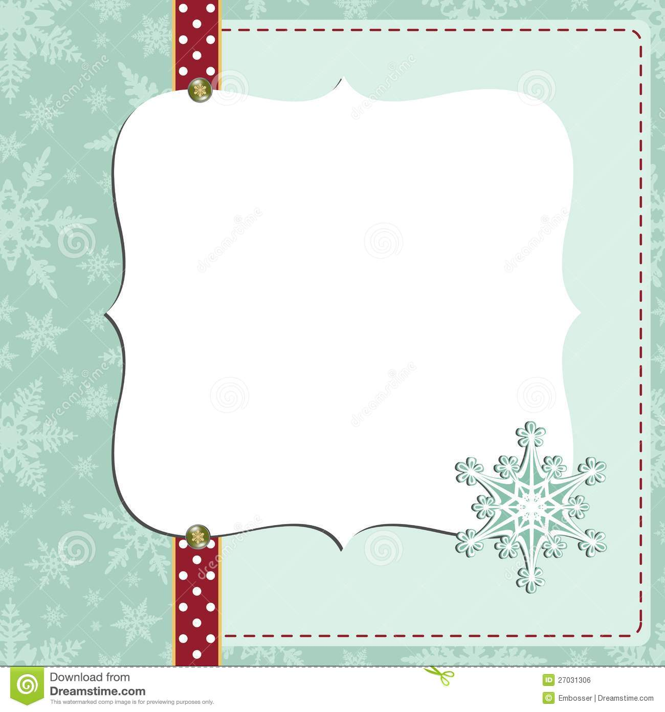 Cute Christmas New Year Postcard Template Royalty Free