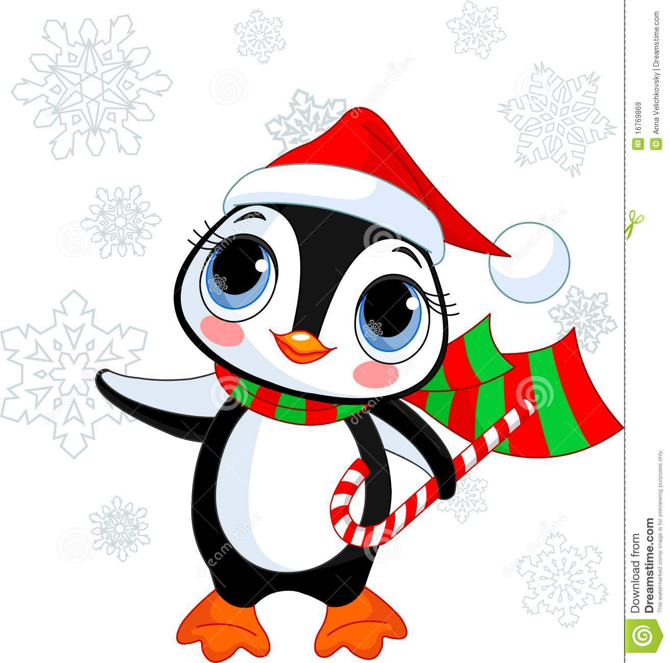 Cute Christmas Penguin Royalty Free Stock Images - Image: 16769869